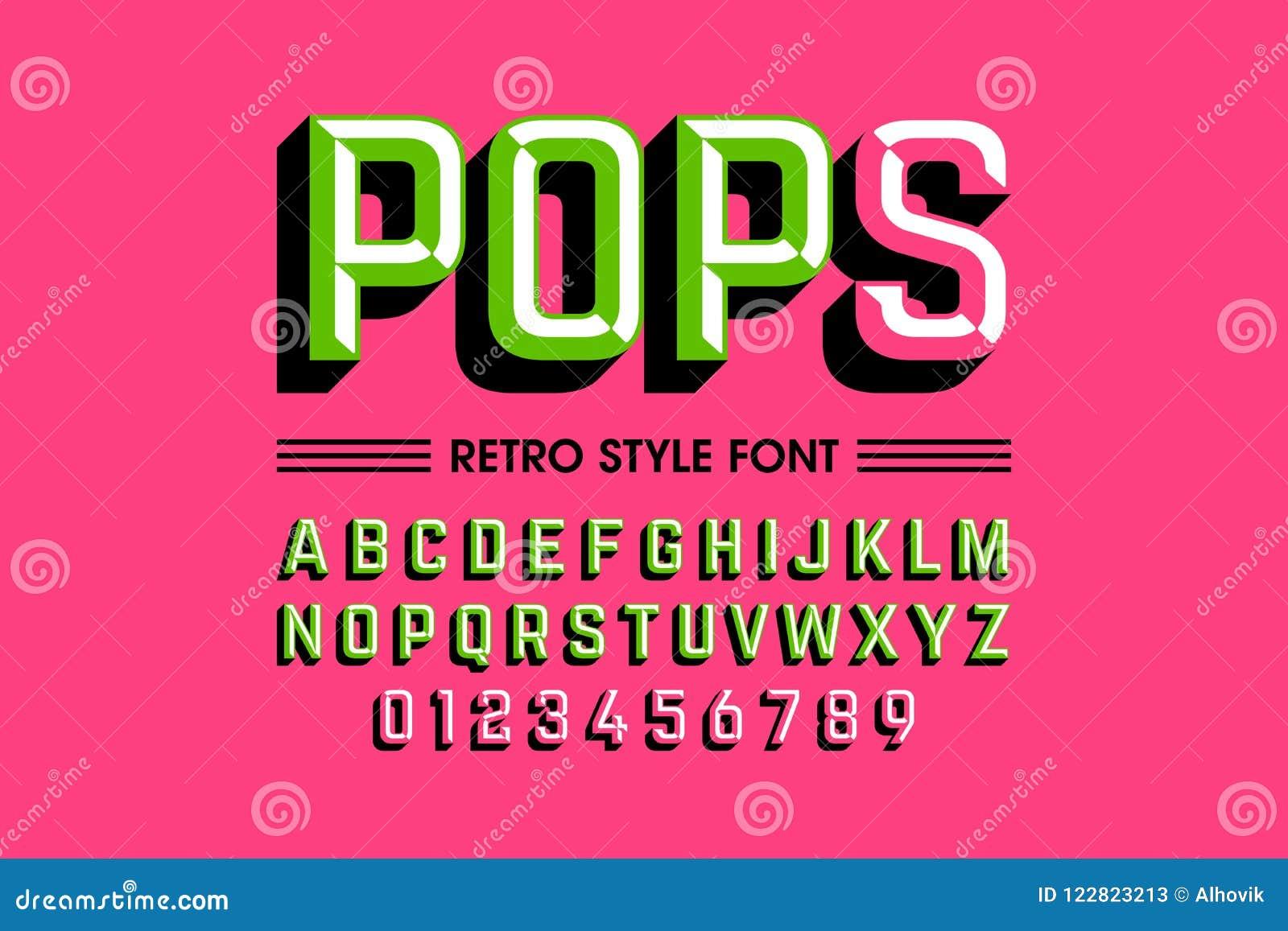 流行艺术字体