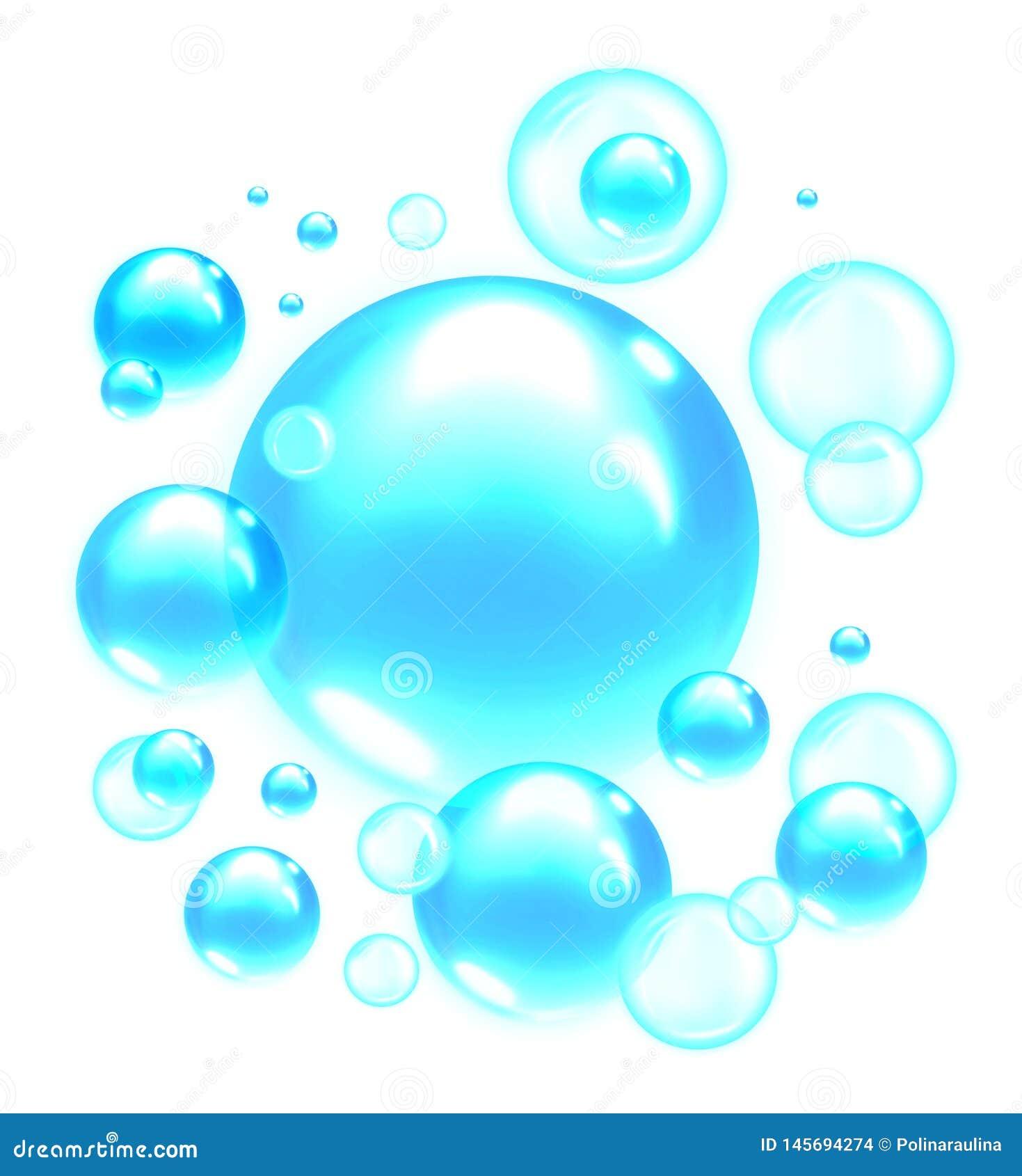 浅兰的肥皂泡 气泡背景
