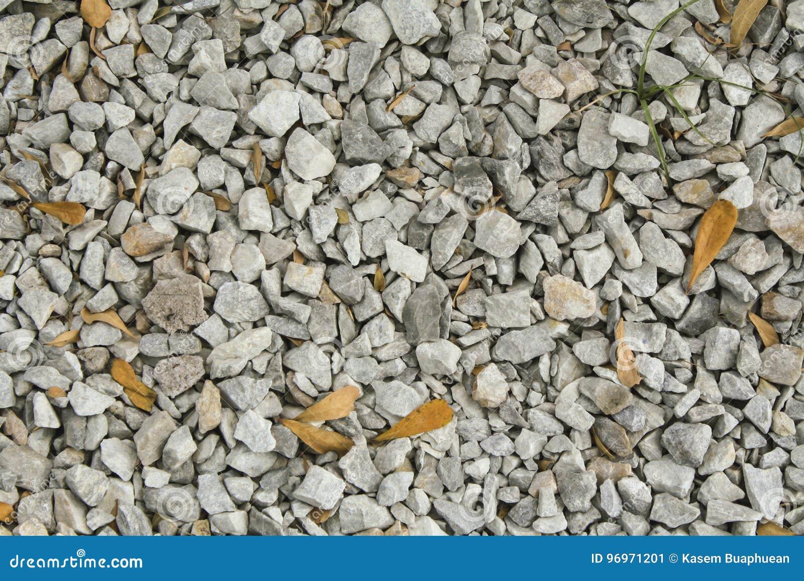 浅灰色的石渣(小卵石)地板纹理,顶视图,小卵石支持