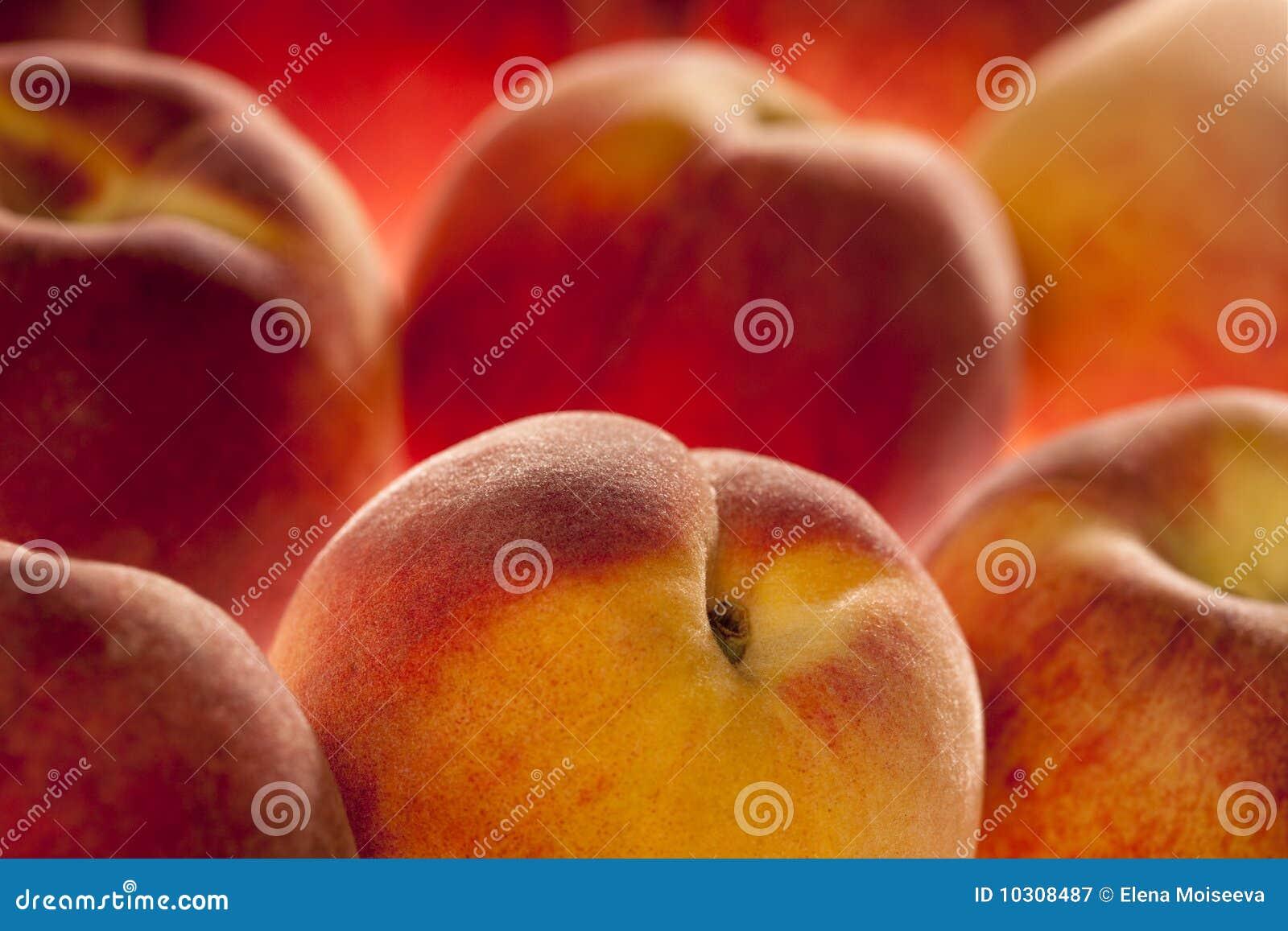 浅背景dof框架充分的桃子
