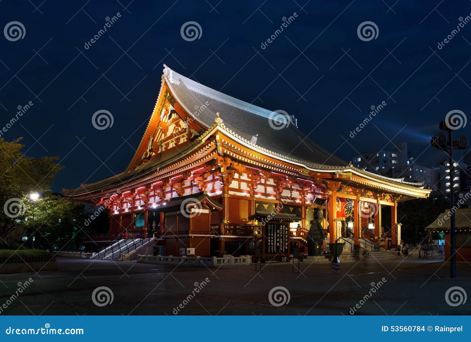 浅草Kannon或Sensoji寺庙在东京,日本