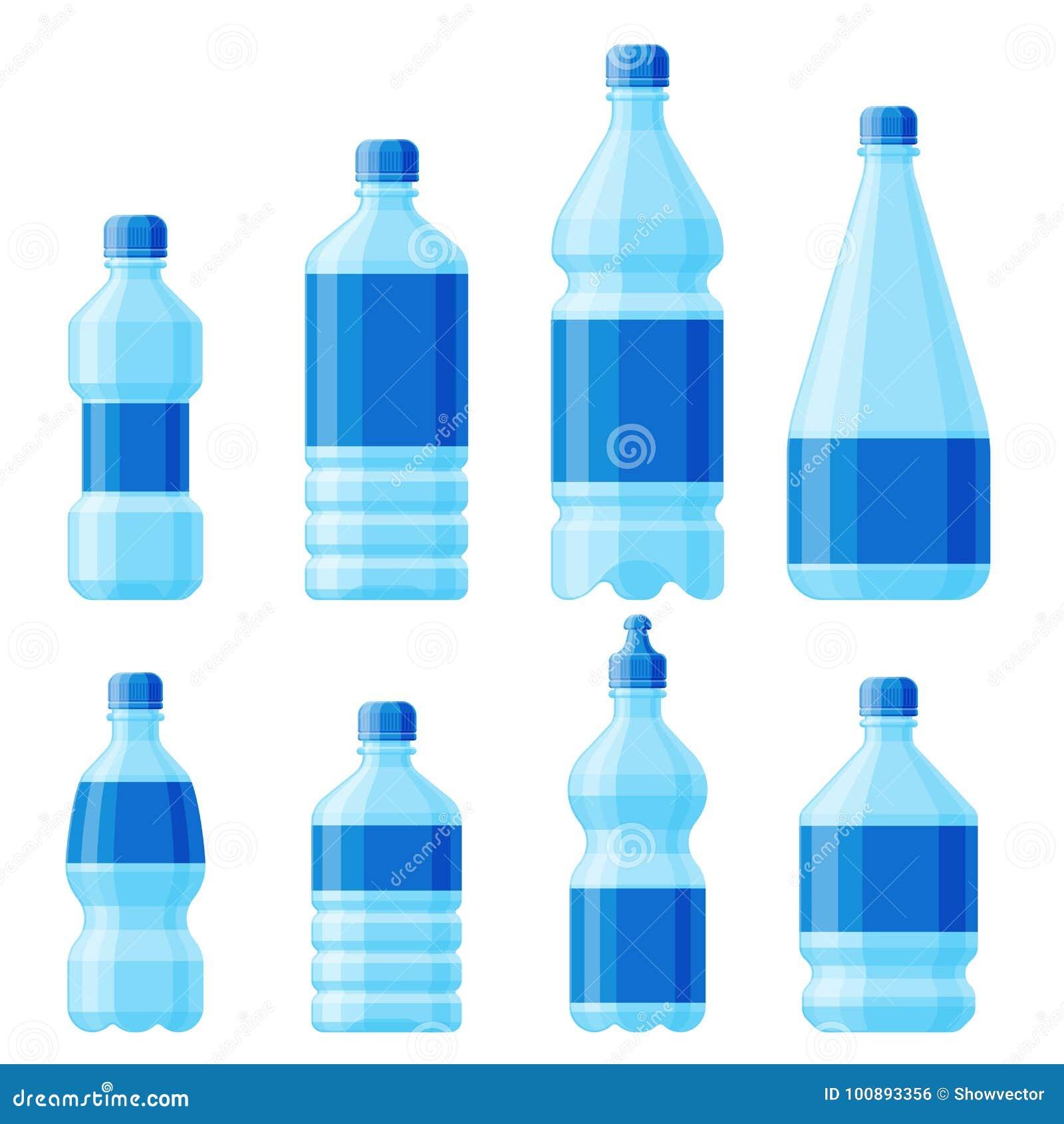 浇灌塑料瓶传染媒介透明矿物饮料空白茶点自然蓝色干净的液体水色流体模板