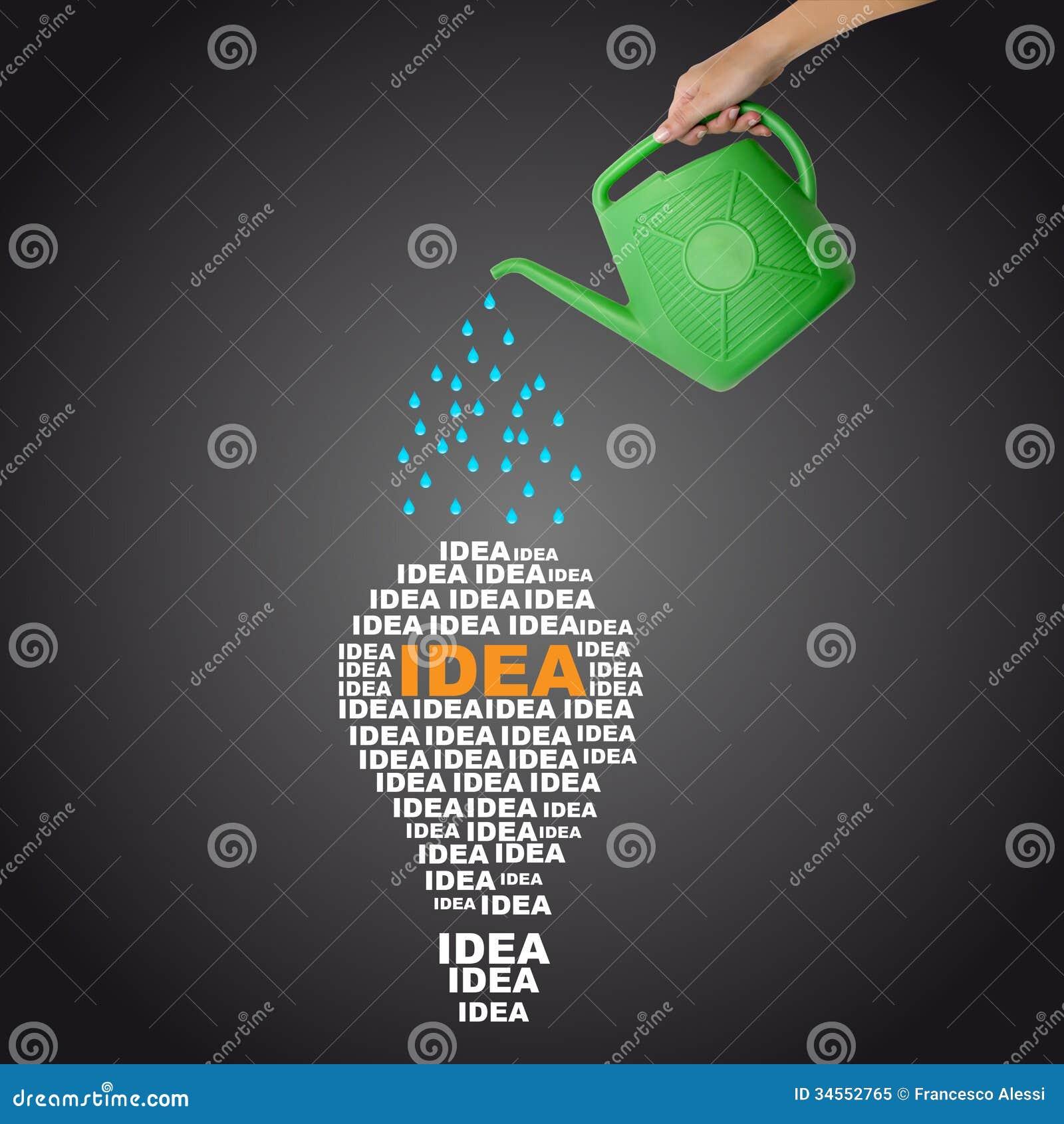 浇灌的想法概念