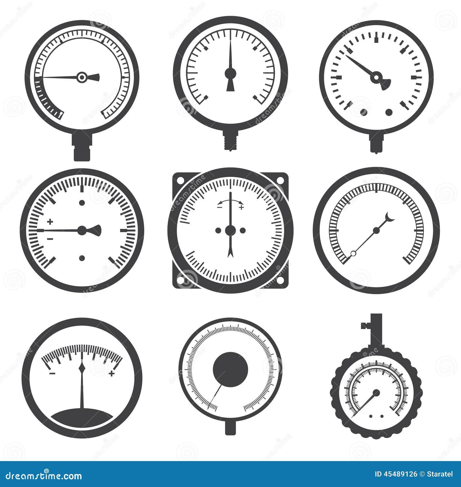 测压器(压力表)和真空表象