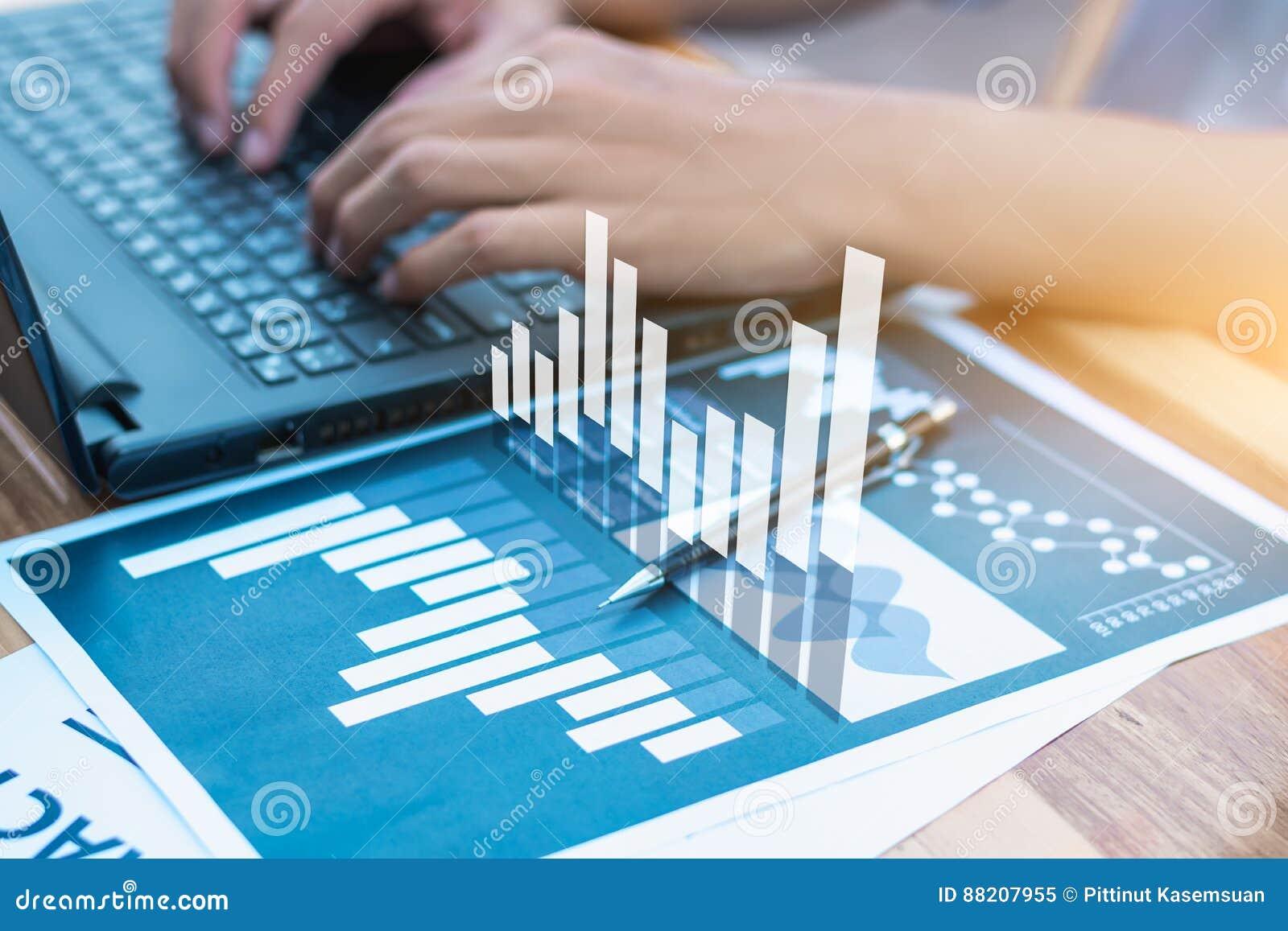 经济情况统计成功概念:商人逻辑分析方法fina