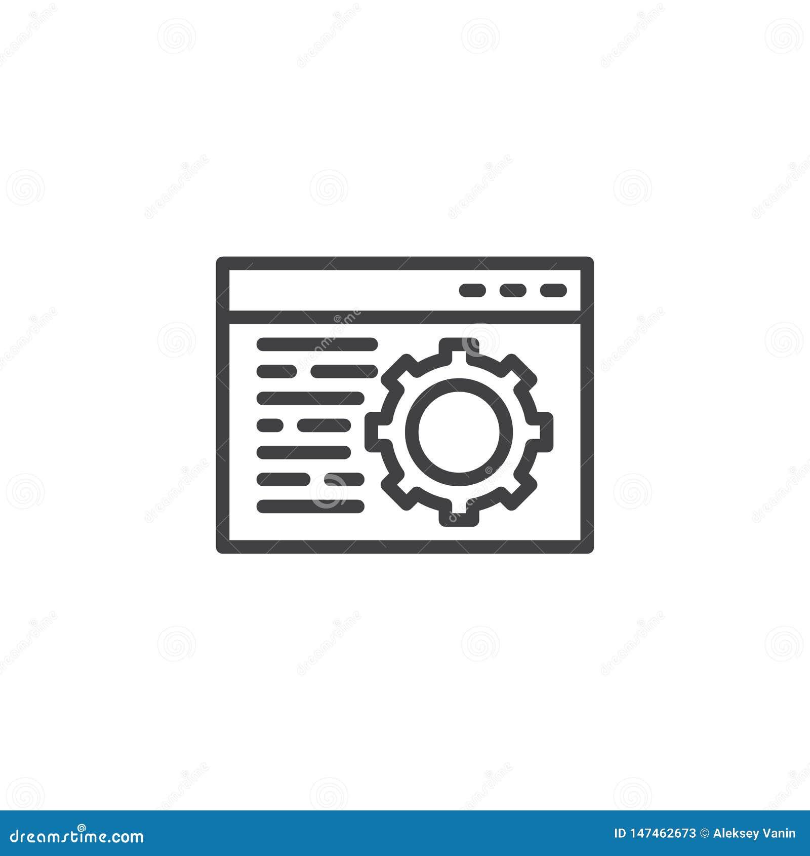 浏览器设定线象