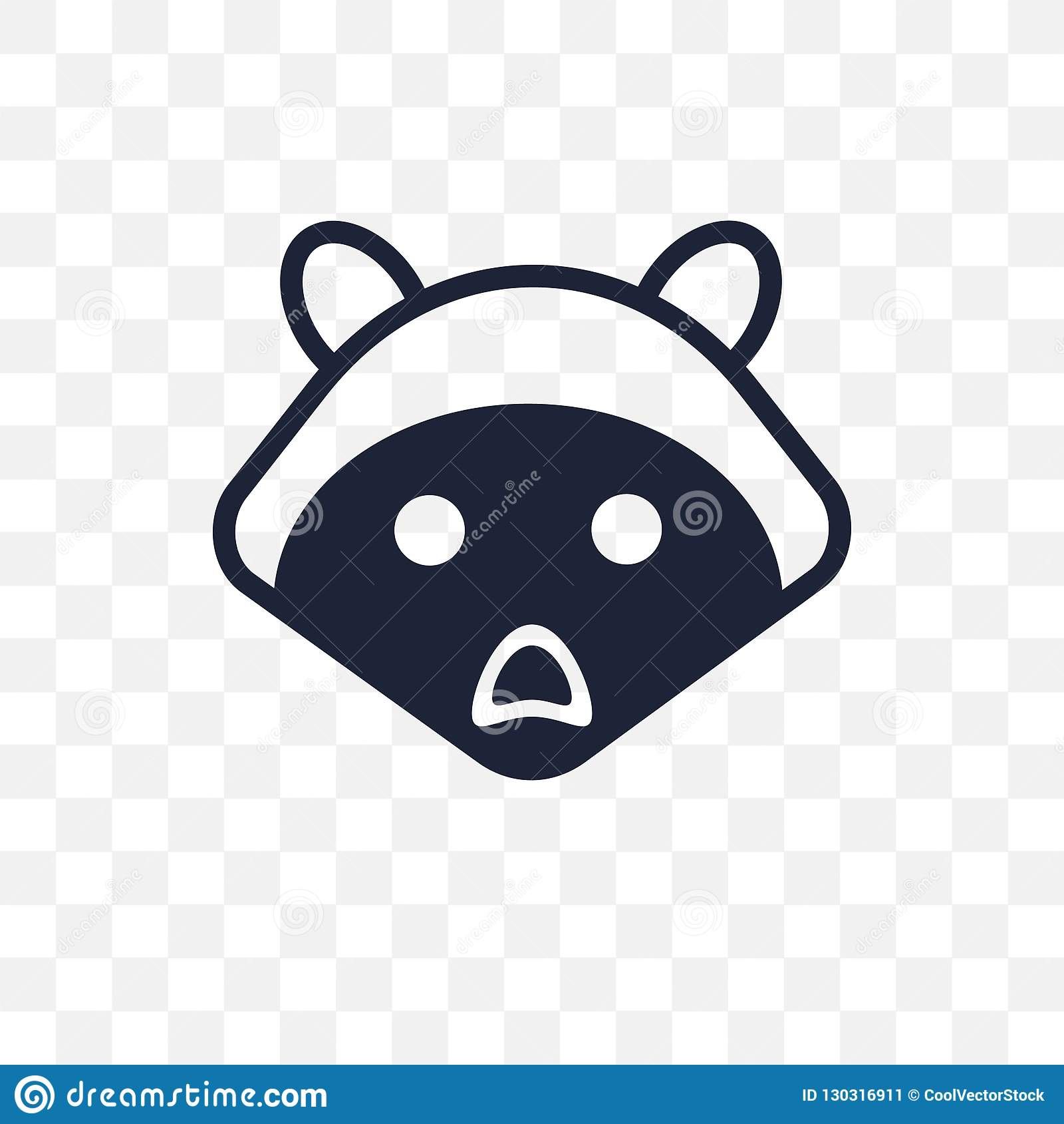 浣熊透明象 浣熊从动物colle的标志设计