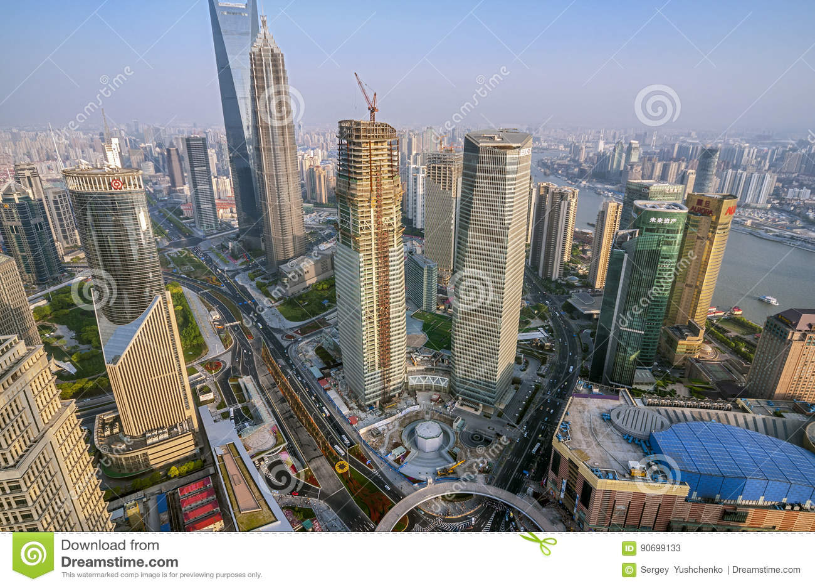浦东地区摩天大楼的看法