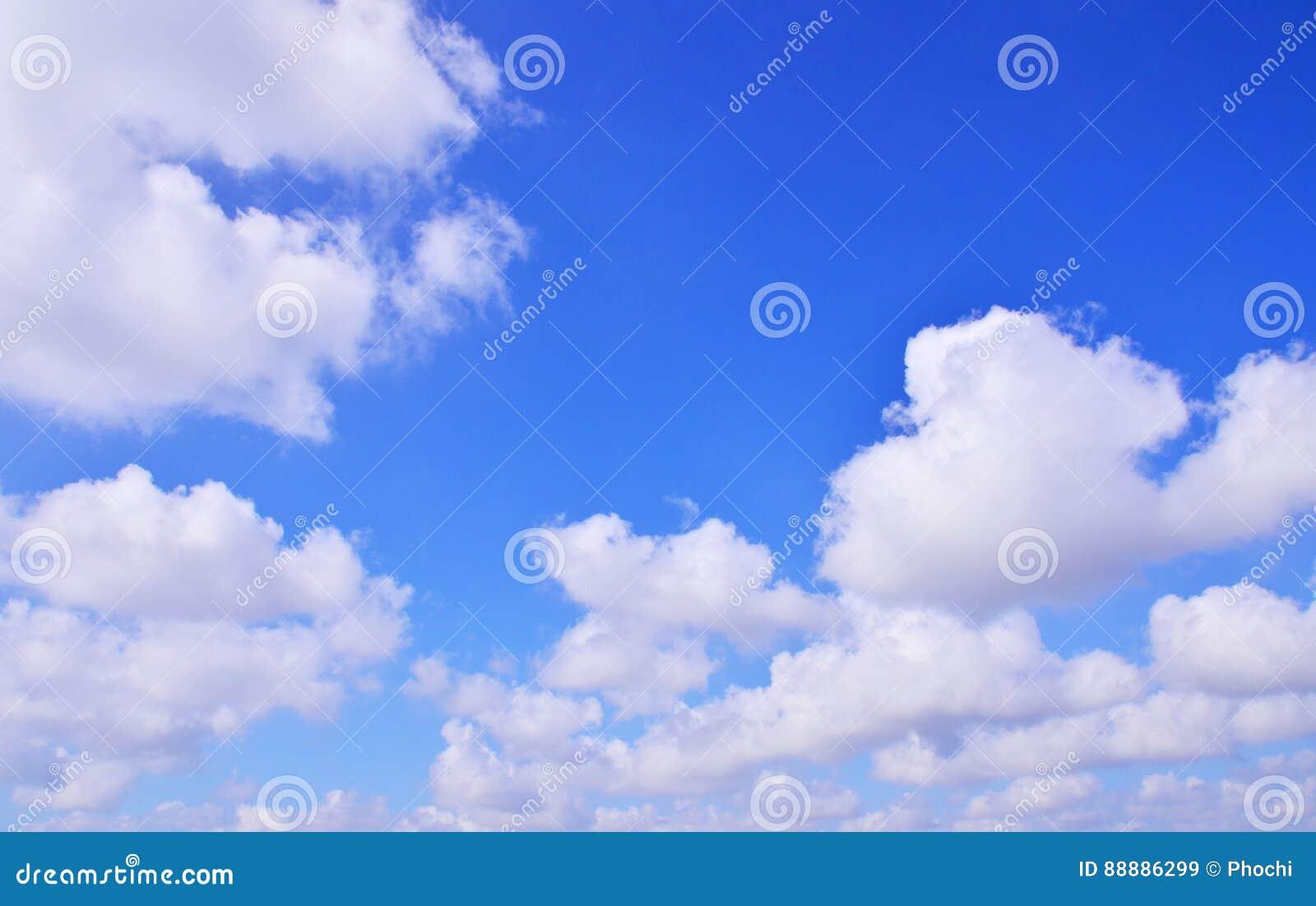 浩大的蓝天云彩