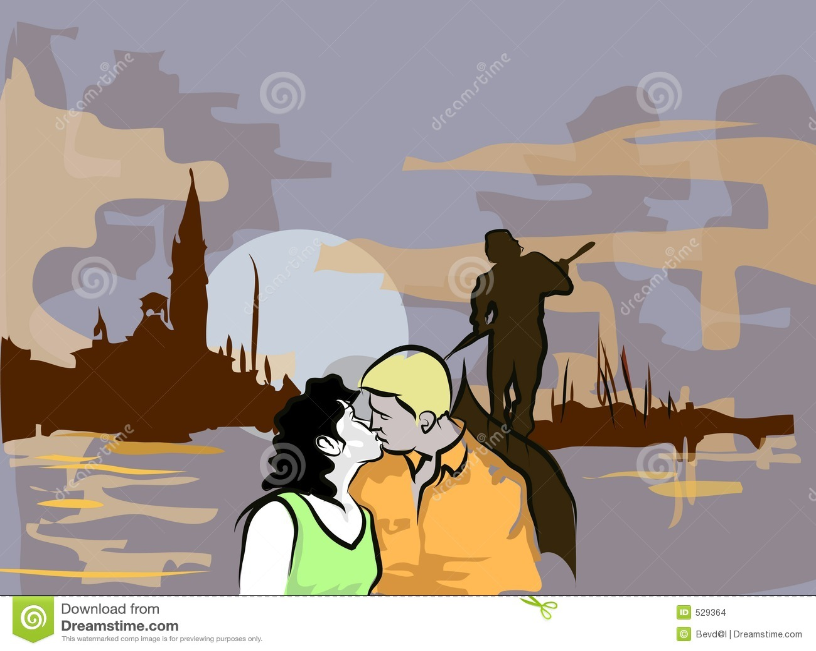 Download 浪漫的晚上 库存例证. 插画 包括有 明信片, 意大利语, 小船, 金黄, 嘴唇, 黄昏, 爱慕, 运河, 新郎 - 529364