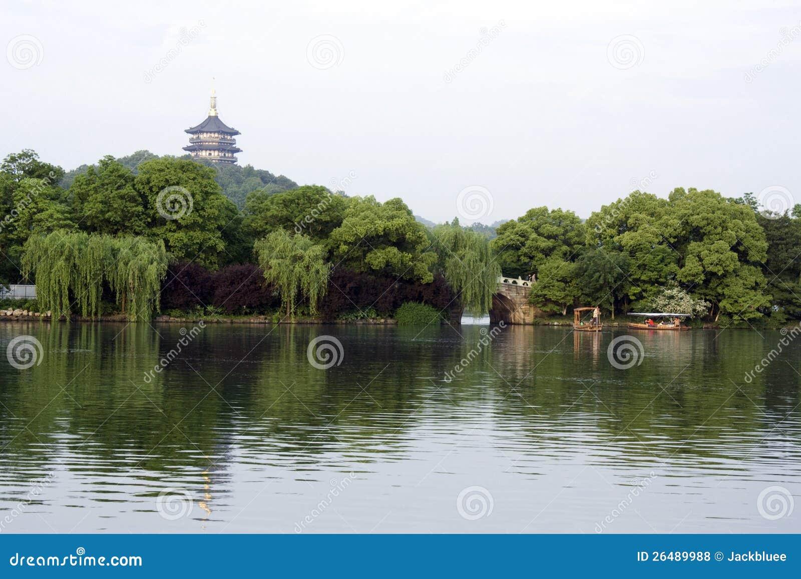 浪漫西方湖
