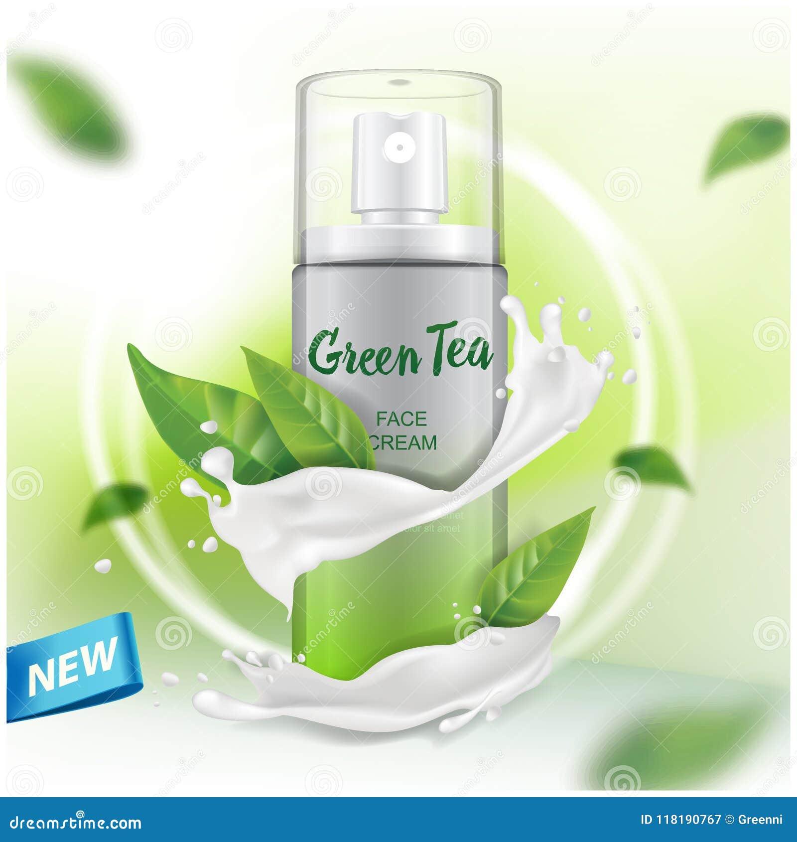 浪花嘲笑与绿茶编目的,杂志萃取物广告 化妆包裹传染媒介设计
