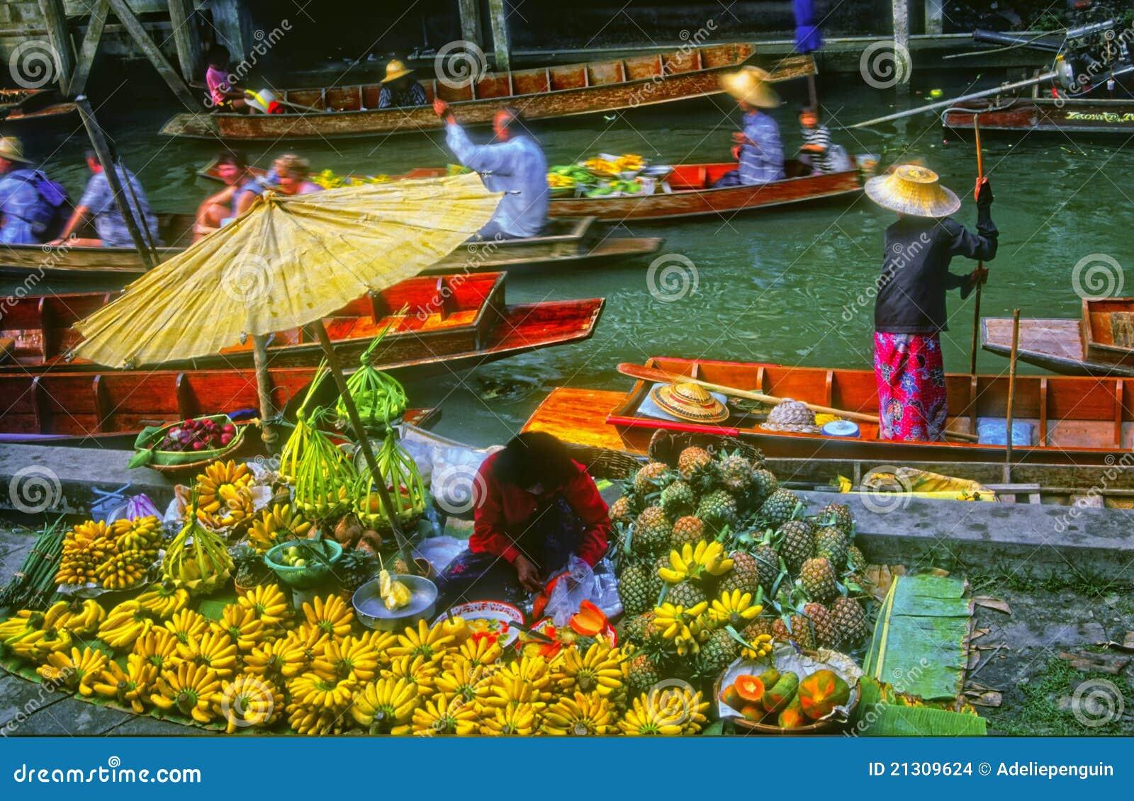 浮动的市场泰国