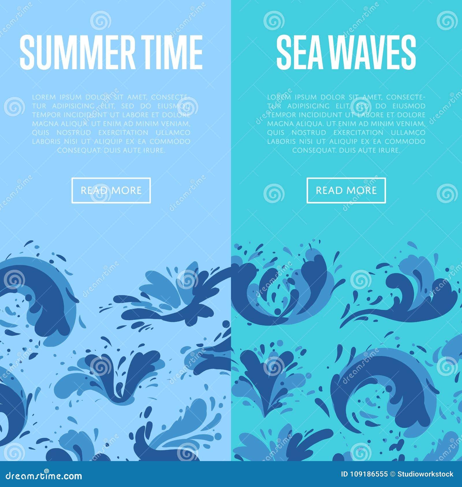 海与水飞溅元素的波浪飞行物
