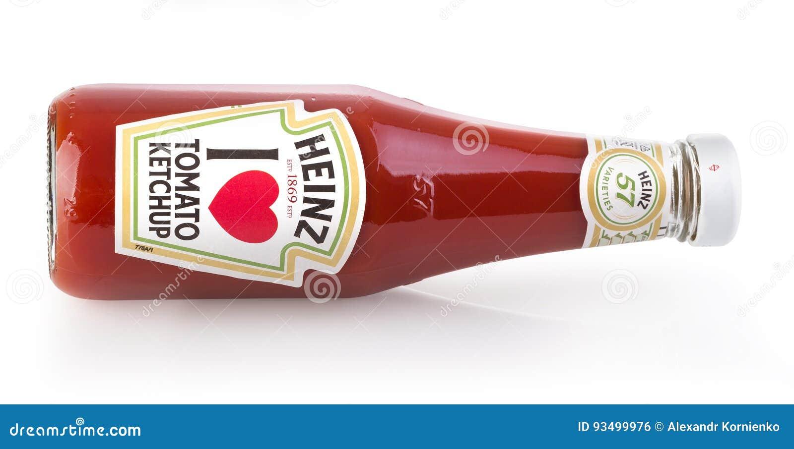 海因茨番茄酱被隔绝的一个瓶