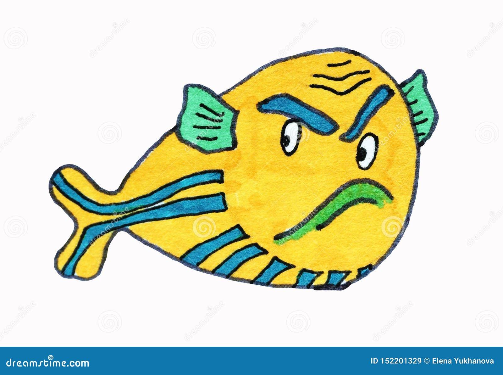 ?? 海居民,鱼 kawaii animais