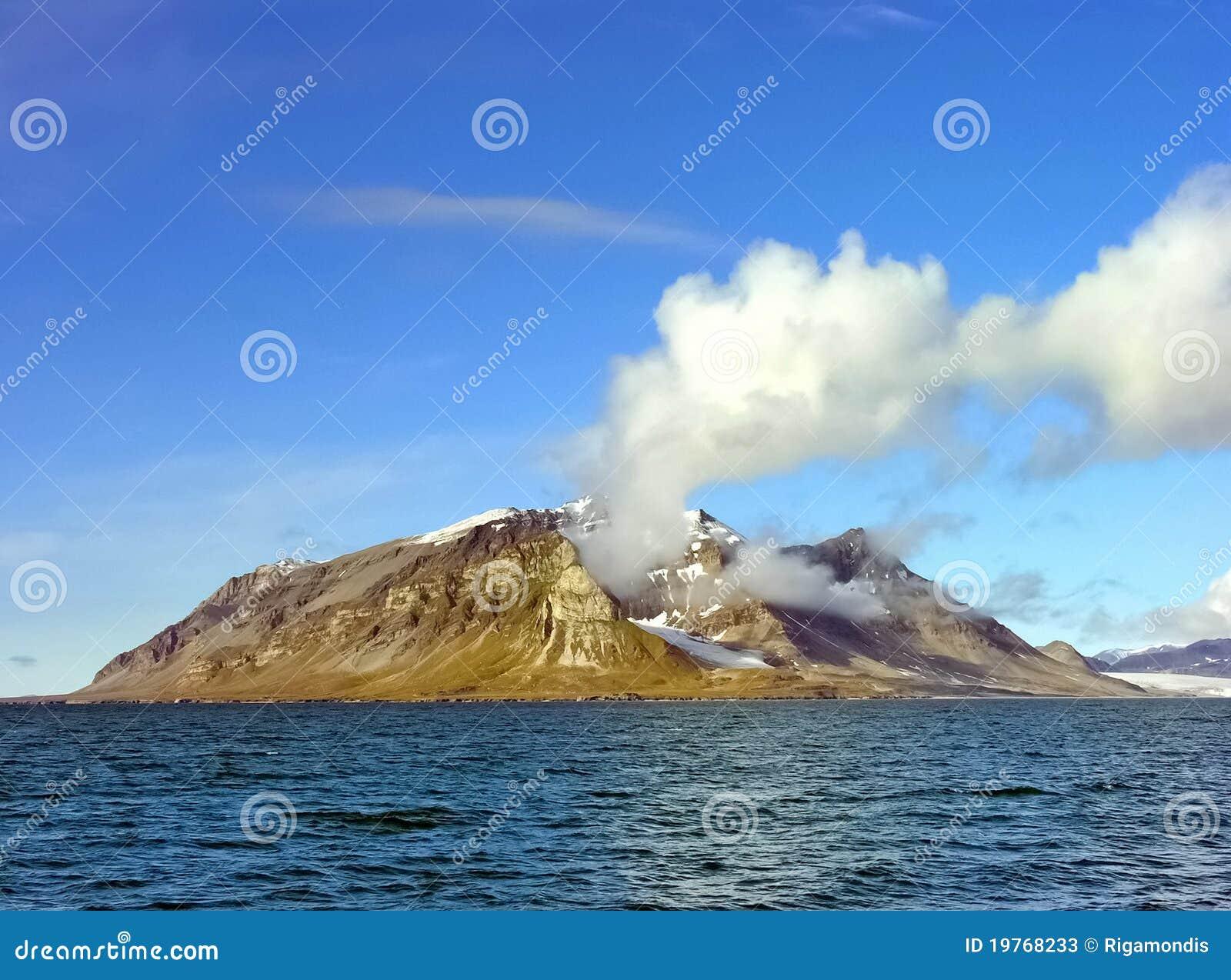海岛北欧挪威海运斯瓦尔巴特群岛.图片