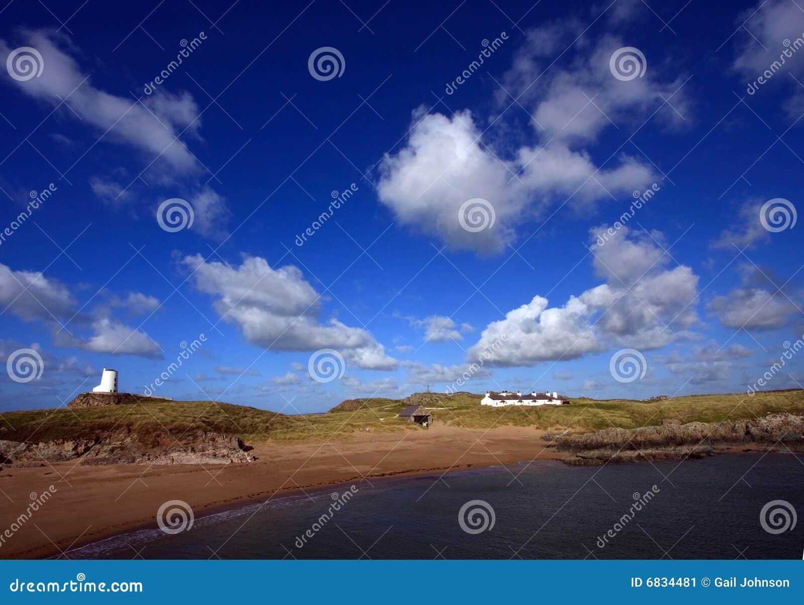 海岛llanddwyn