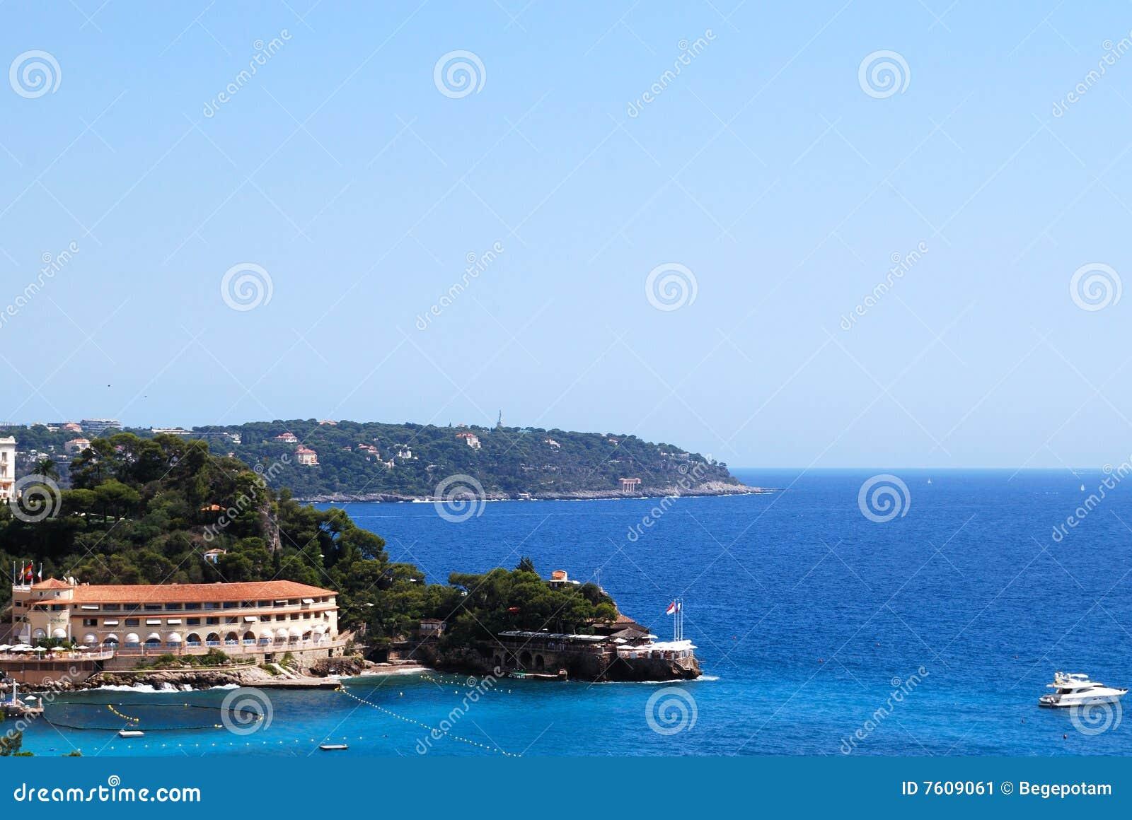 海岸法国意大利地中海摩纳哥
