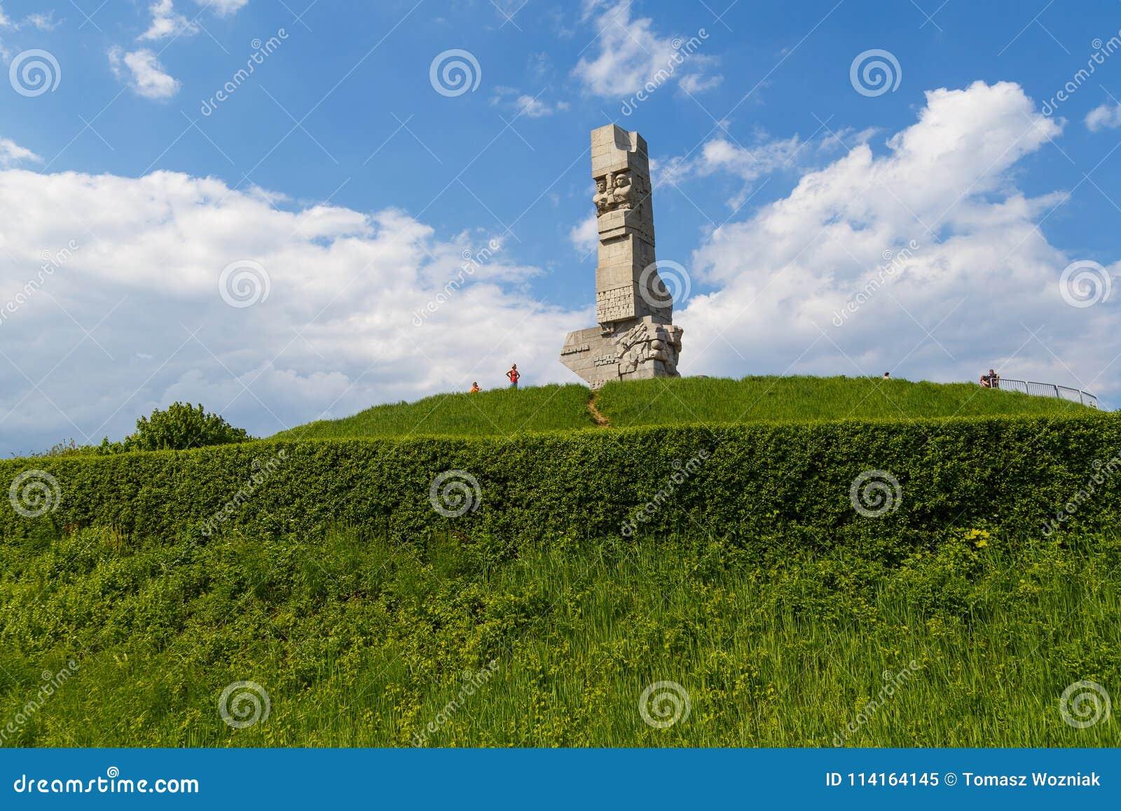 海岸防御者的纪念碑一座纪念碑在格但斯克