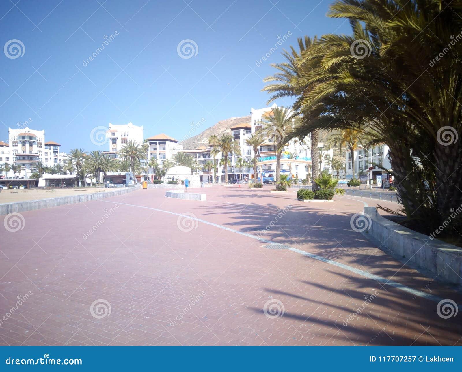 海岸阿加迪尔摩洛哥