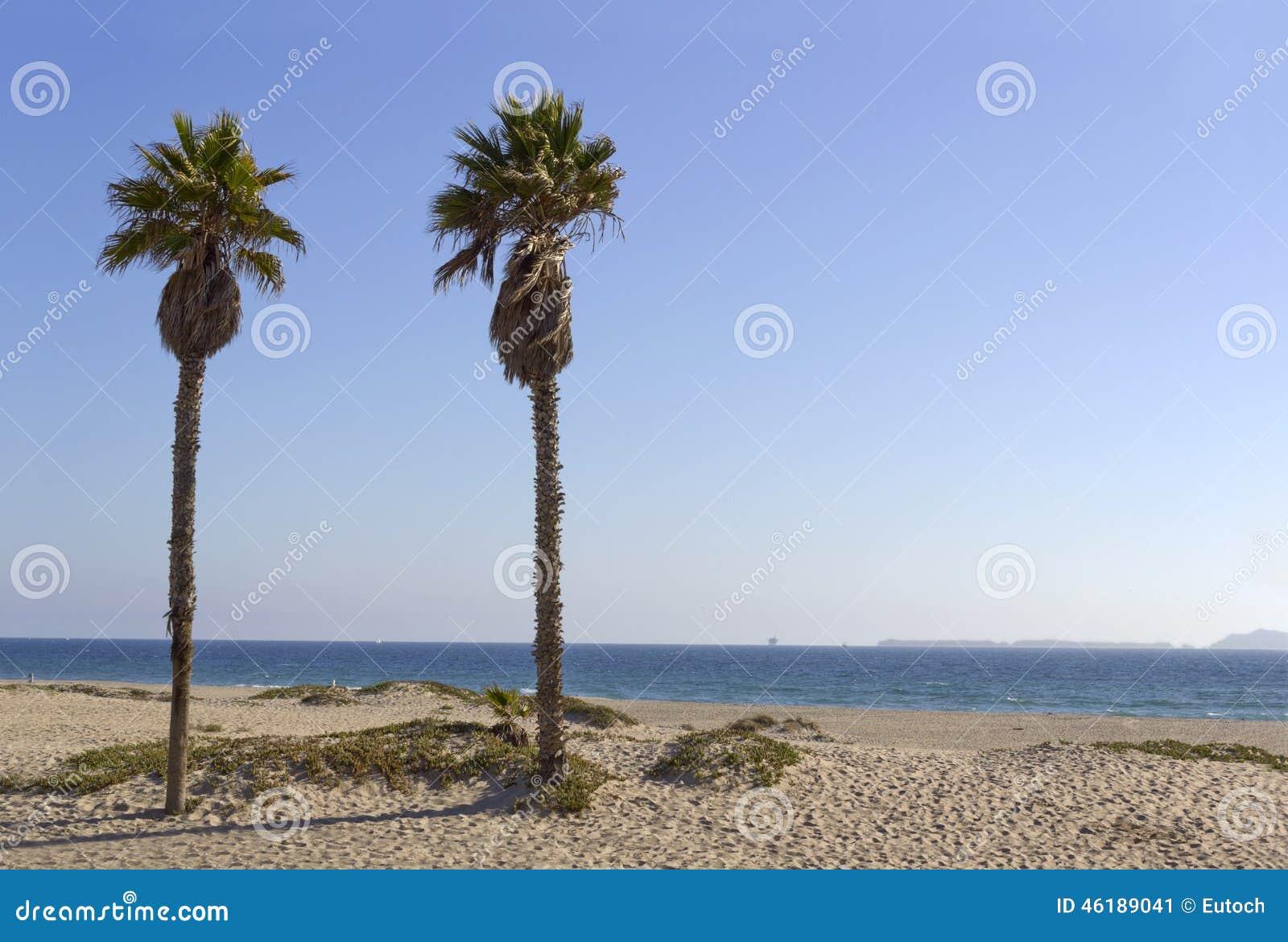 海峡群岛如被看见从曼德勒海滩,加州