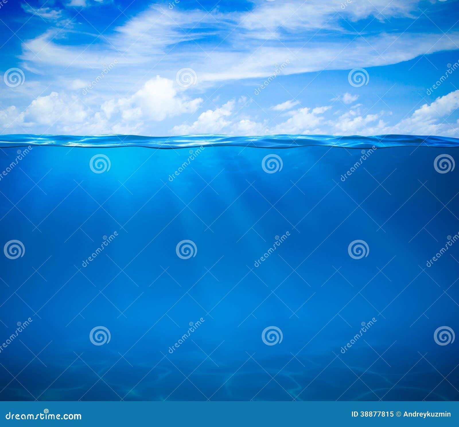 海或海洋水表面和水下