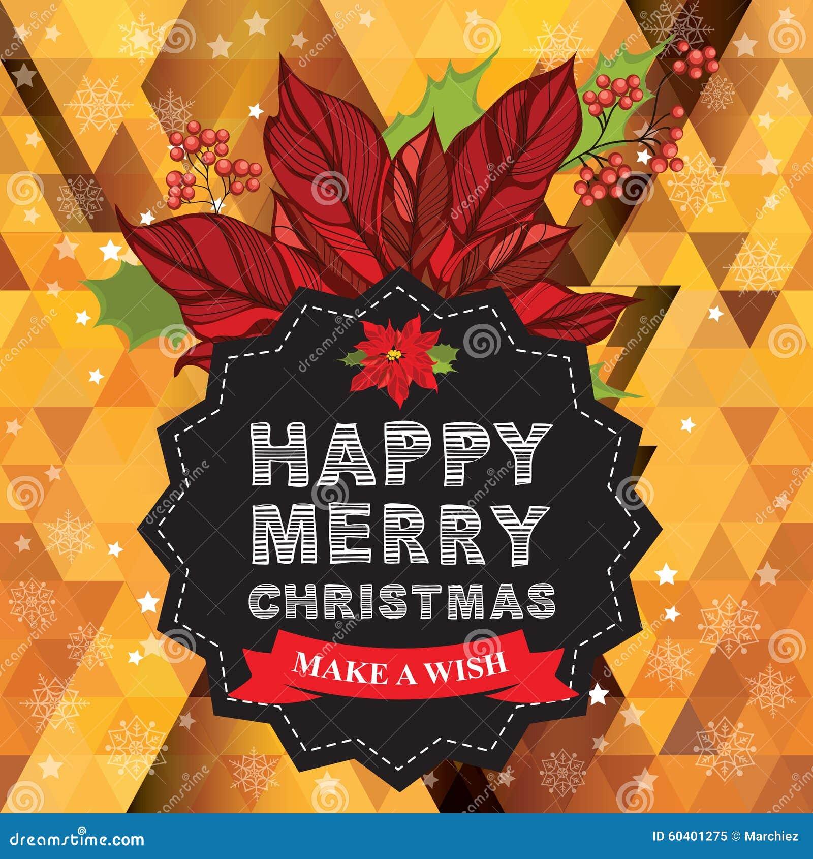 海报圣诞快乐 也corel凹道例证向量