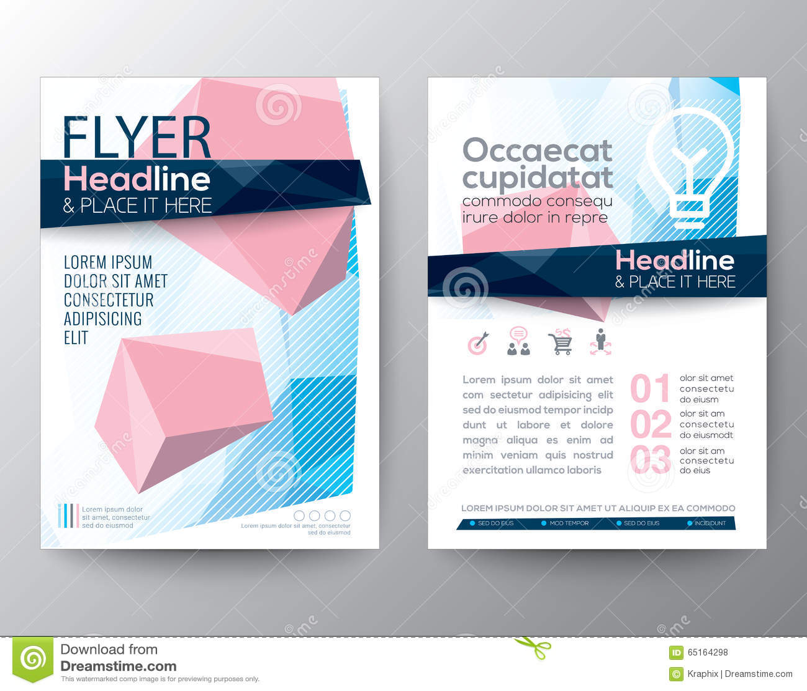 海报小册子飞行物设计的抽象低多角形背景