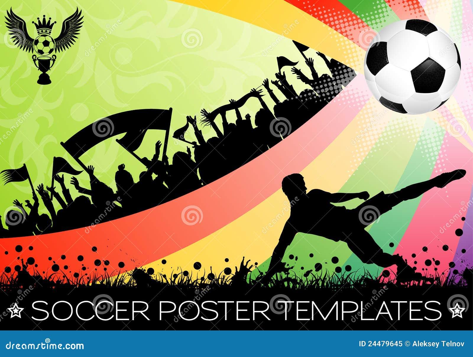 海报足球图片