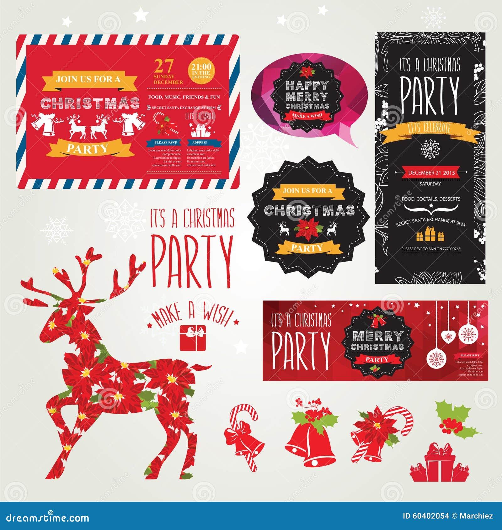海报邀请圣诞快乐