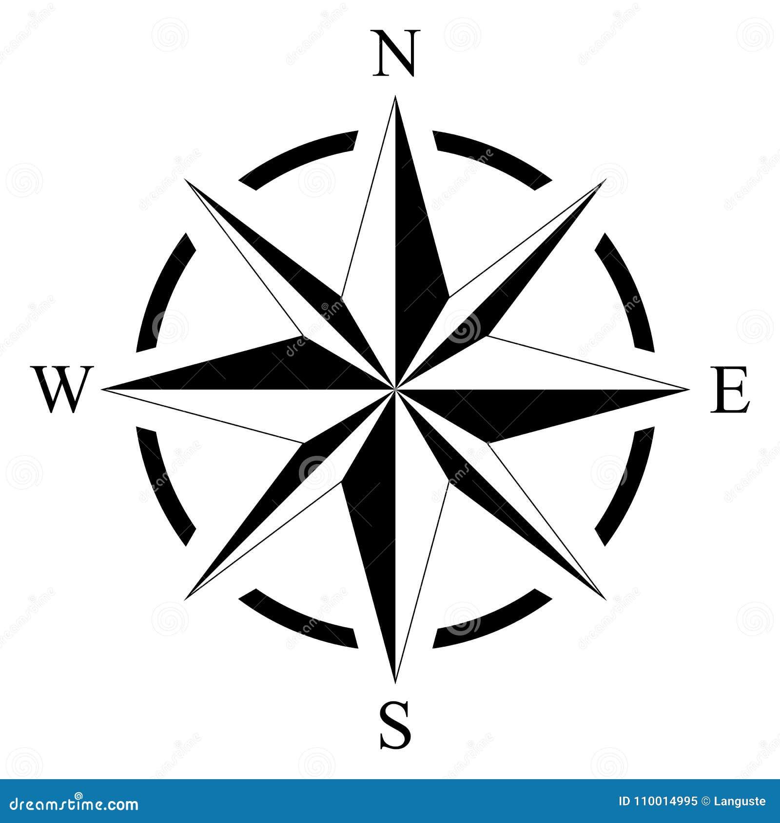 海洋或船舶航海的在被隔绝的白色背景的罗盘和地图作为传染媒介