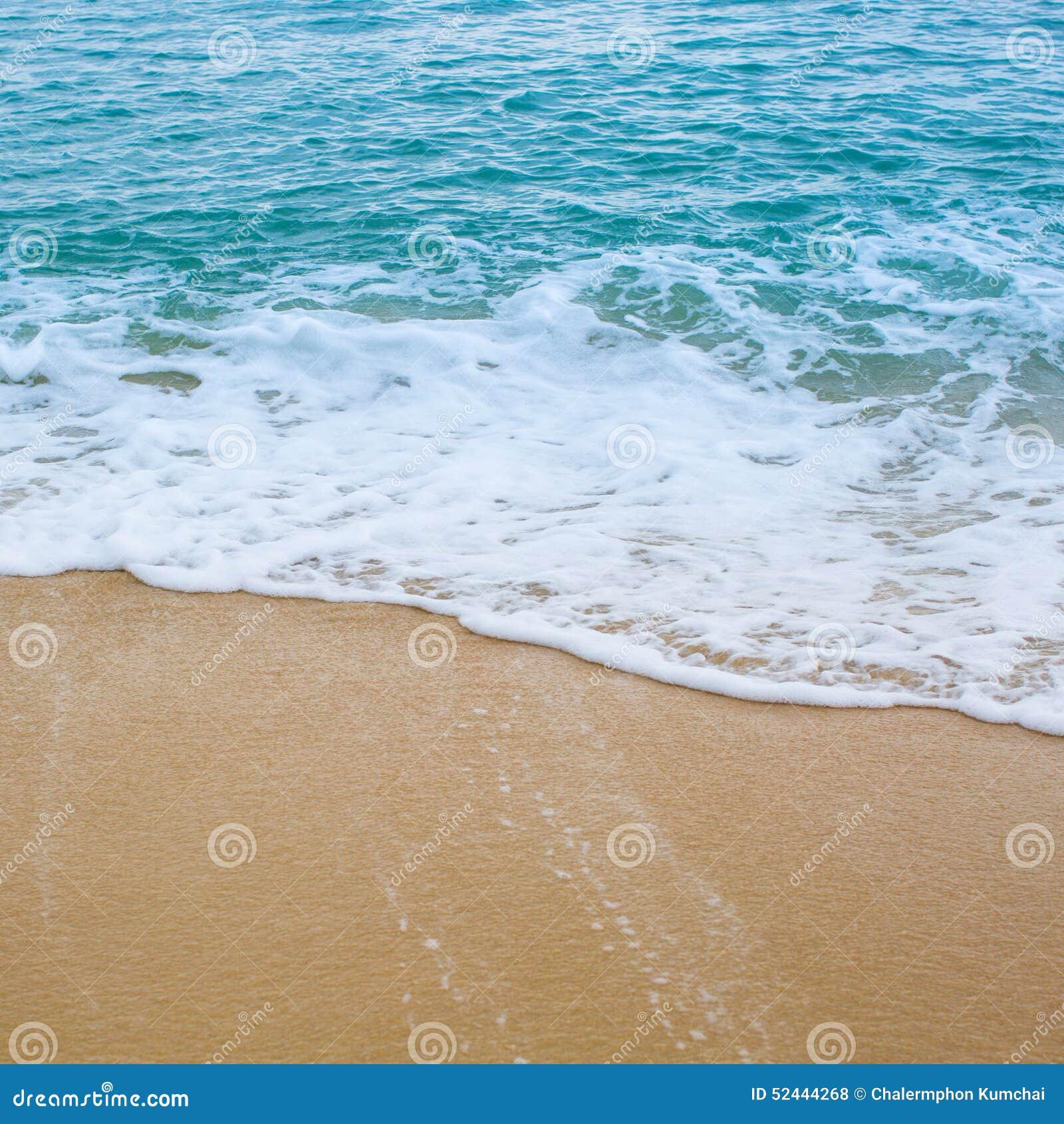 海浪波浪盖海海滩沙子
