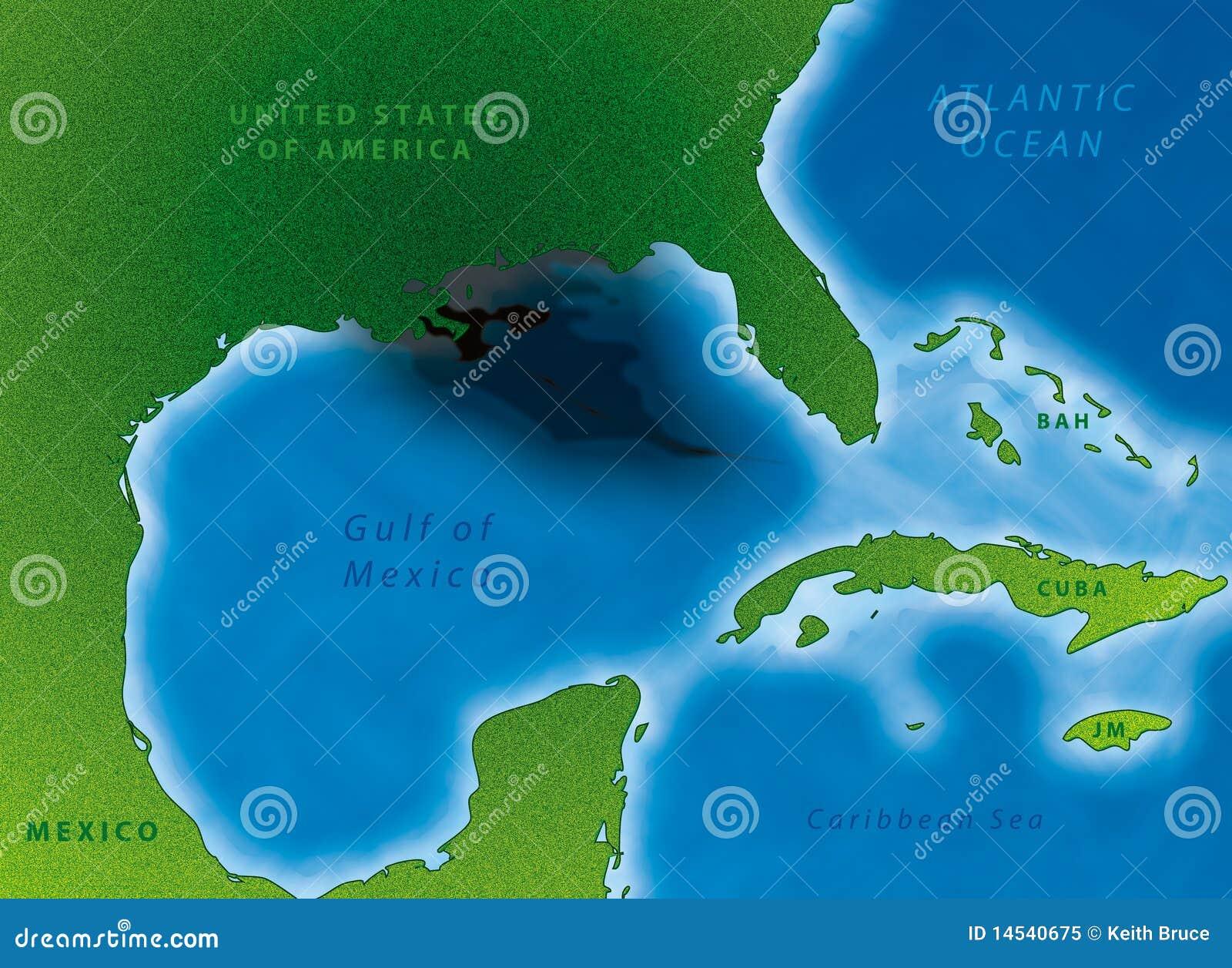 海湾映射漏油
