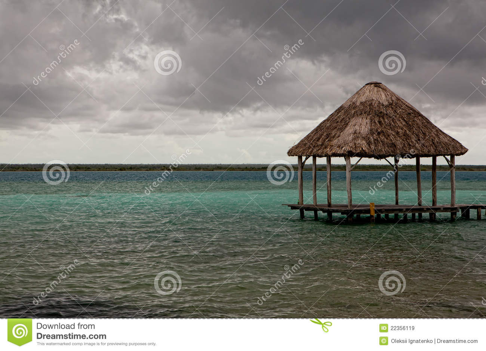 海湾美好的bungalo墨西哥夏天