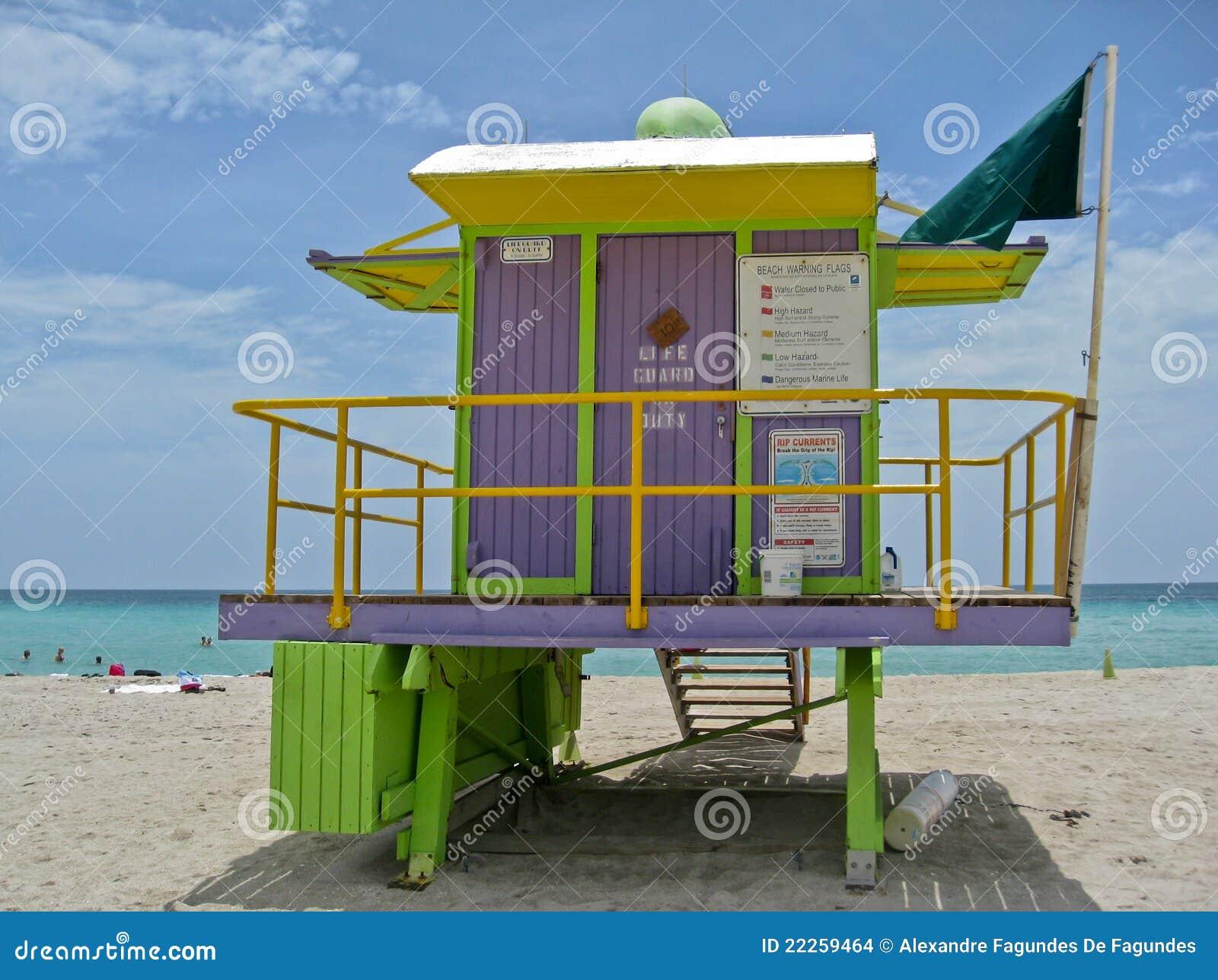 海滨别墅救生员迈阿密木头