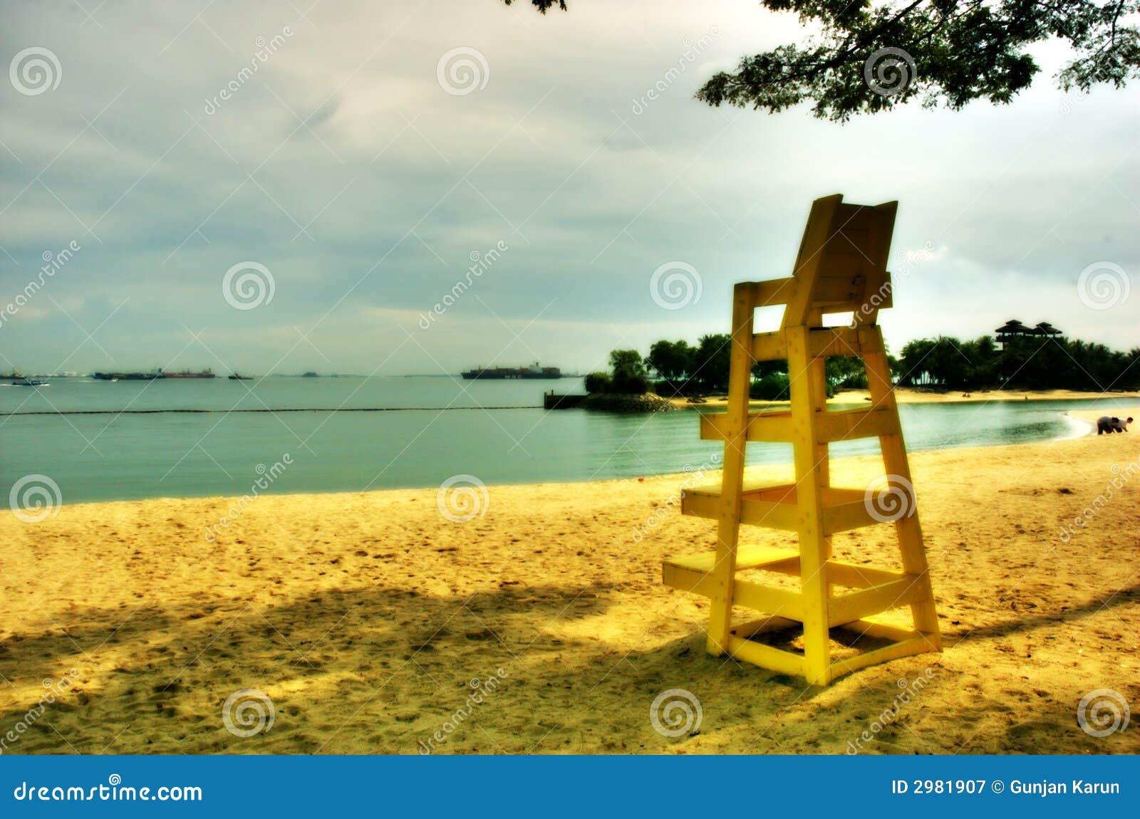 海滩偏僻的sentosa新加坡