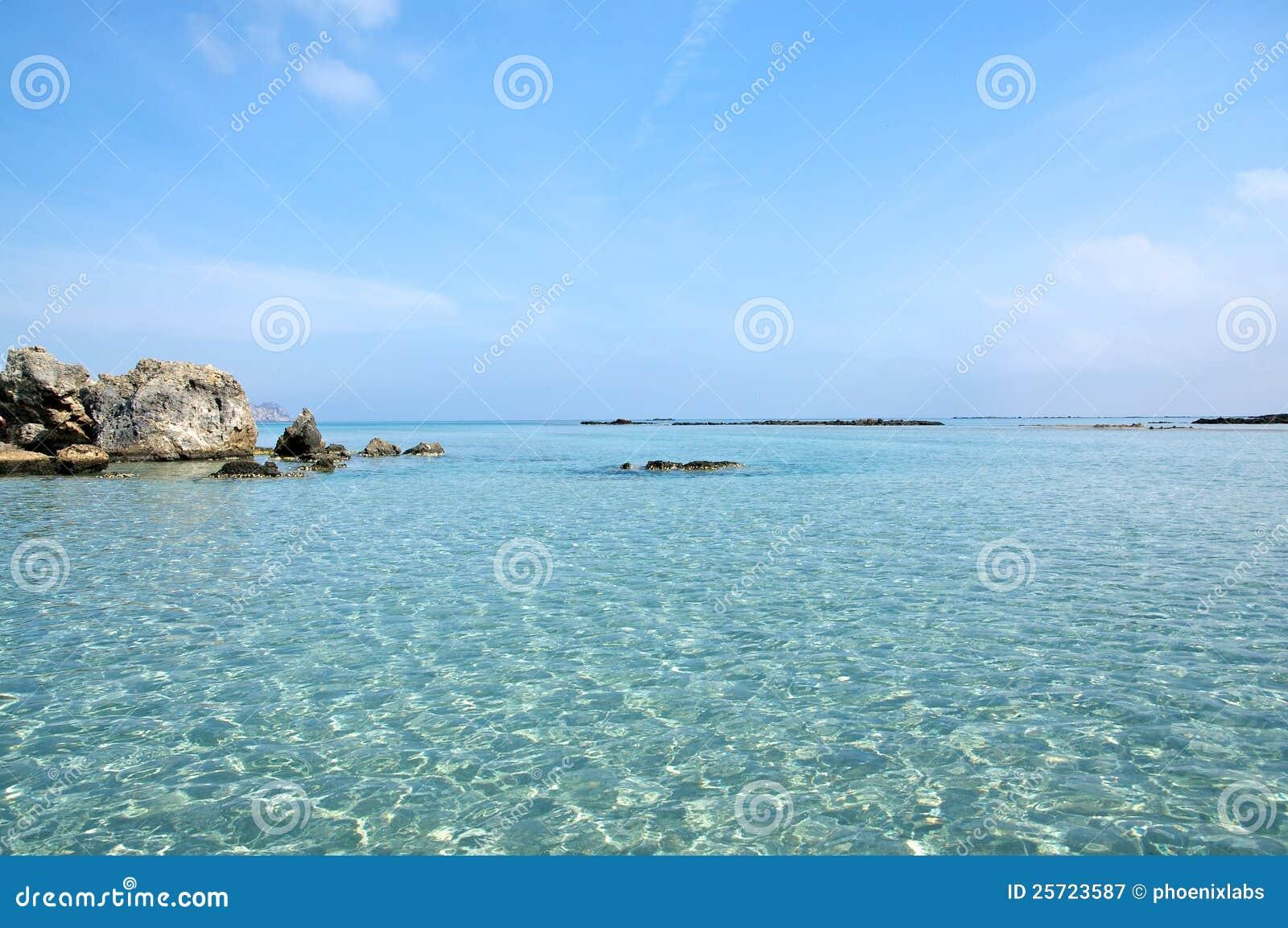 海滩克利特elafonisi