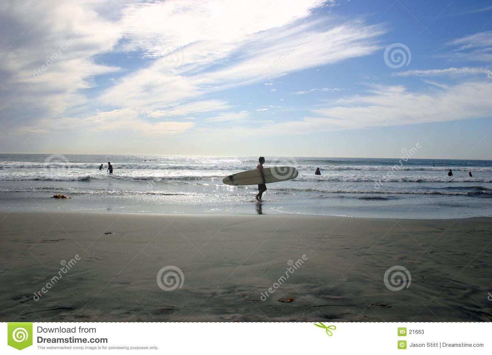 海滩冲浪者