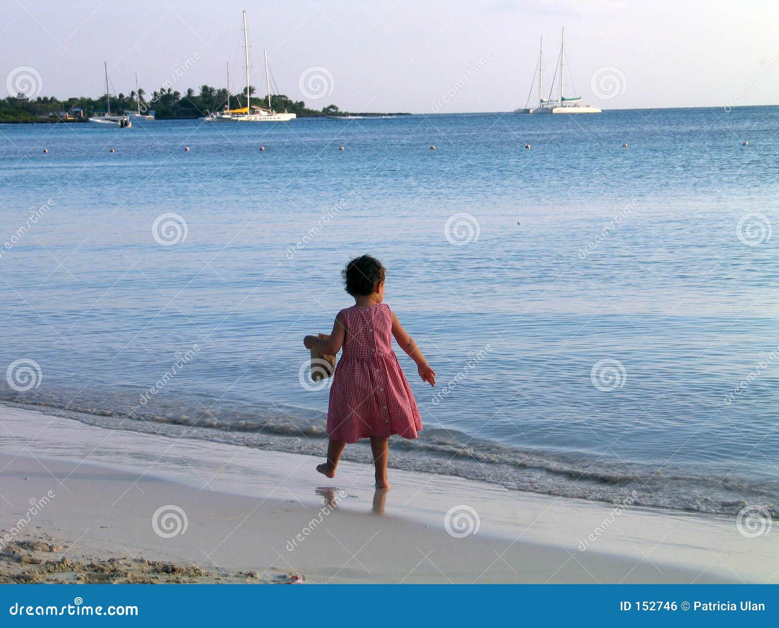 海滩加勒比女孩