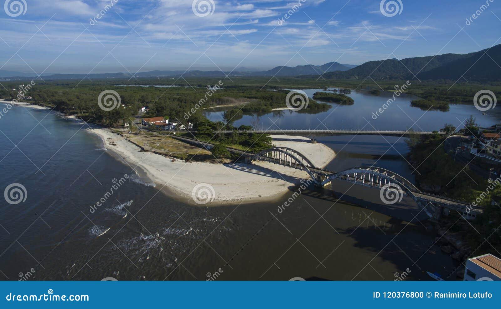 海滩和天堂地方,环球美妙的海滩, Marambaia海滩Restinga,里约热内卢,巴西