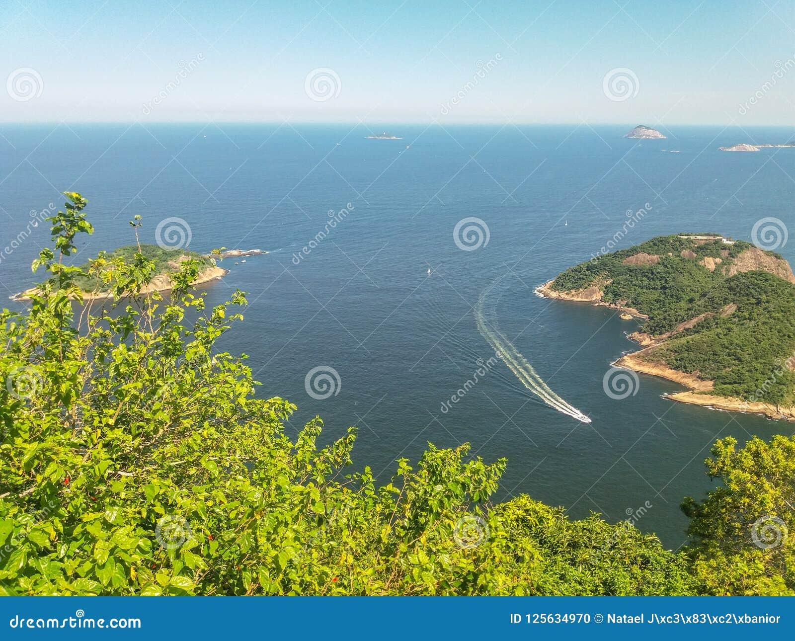 海滩山和市里约热内卢在巴西