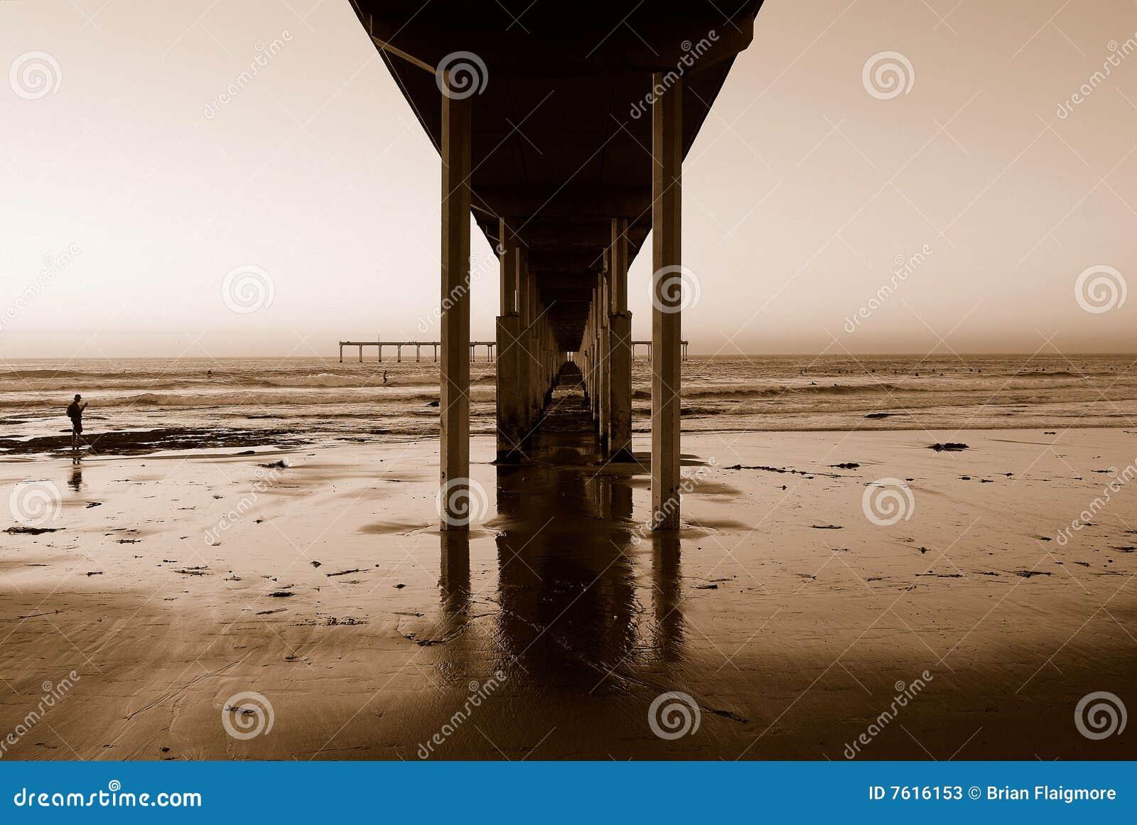 海滩海洋码头