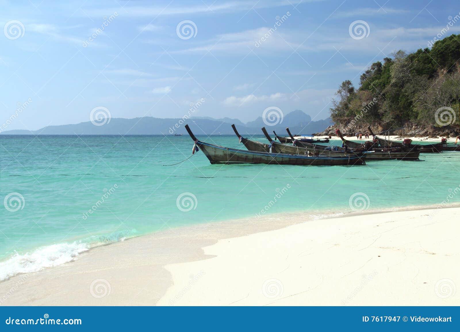 海滩热带的泰国