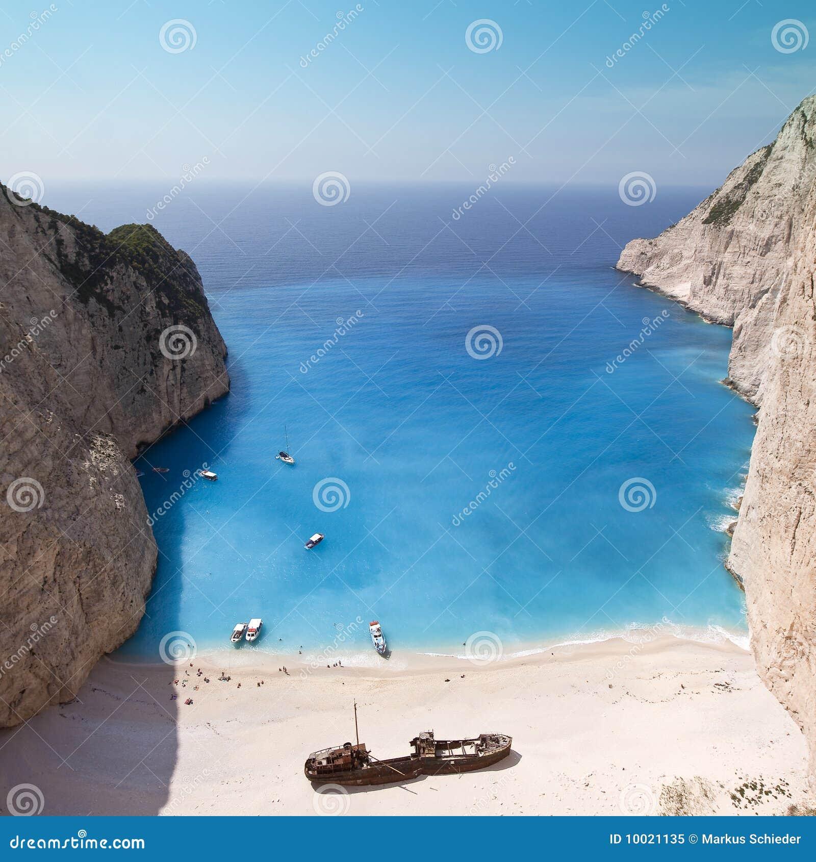 海滩爱奥尼亚人navagio海运