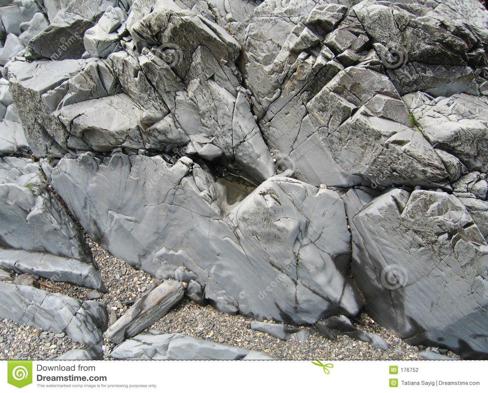 海滩缅因岩石