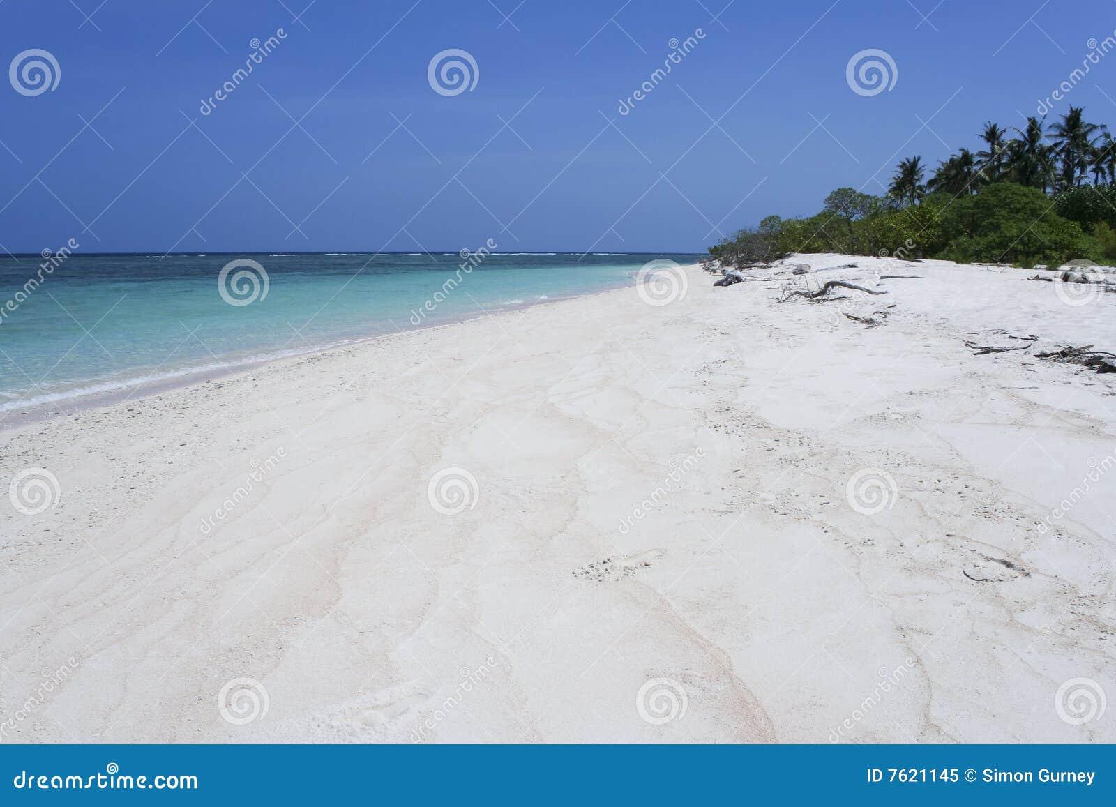 海滩蓝色荒岛天空