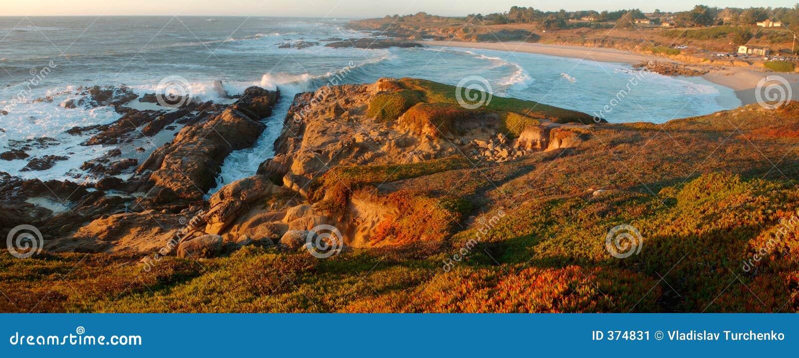 海滩豆加利福尼亚空心北状态日落