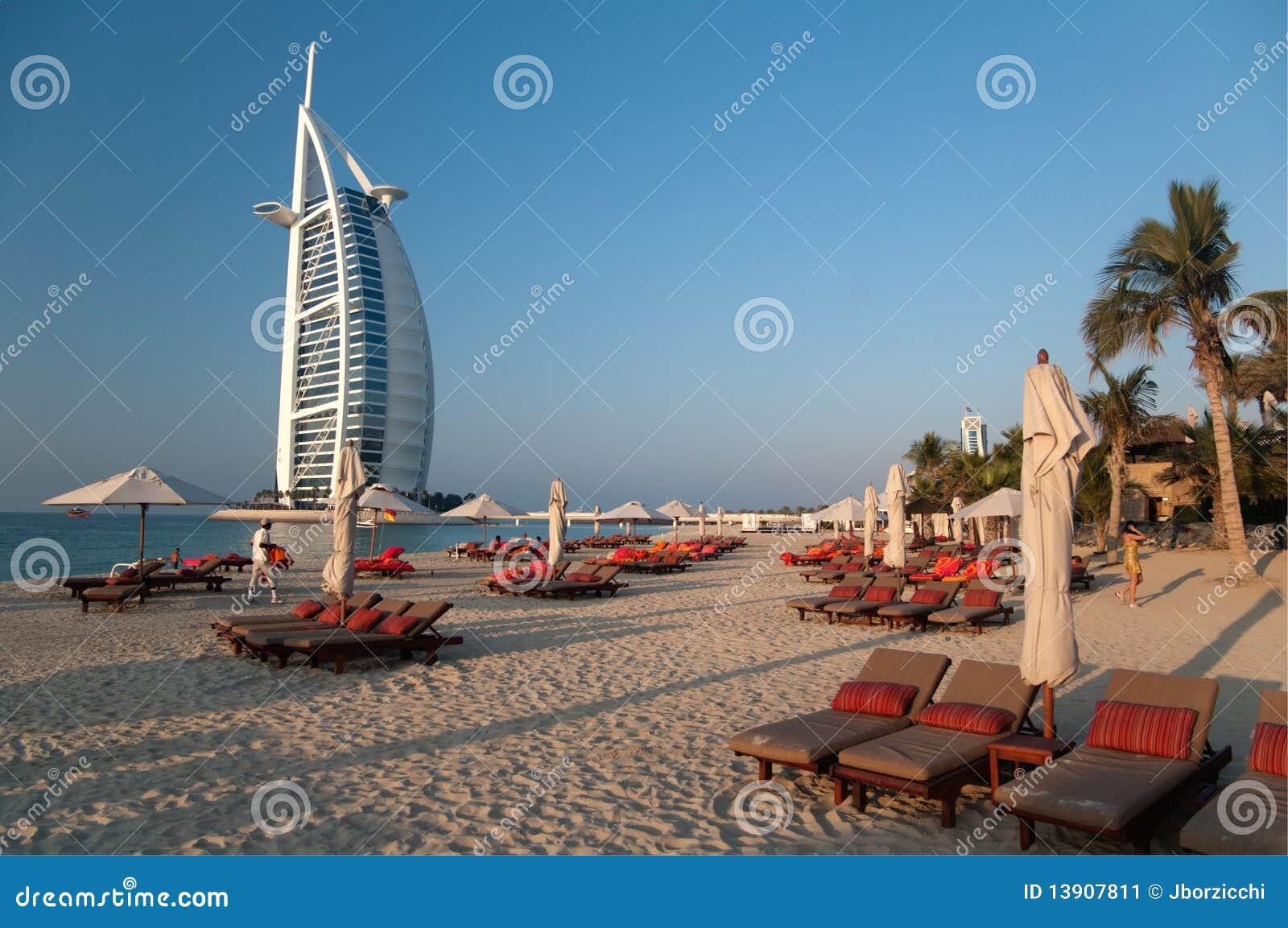 海滩迪拜阿拉伯联合酋长国