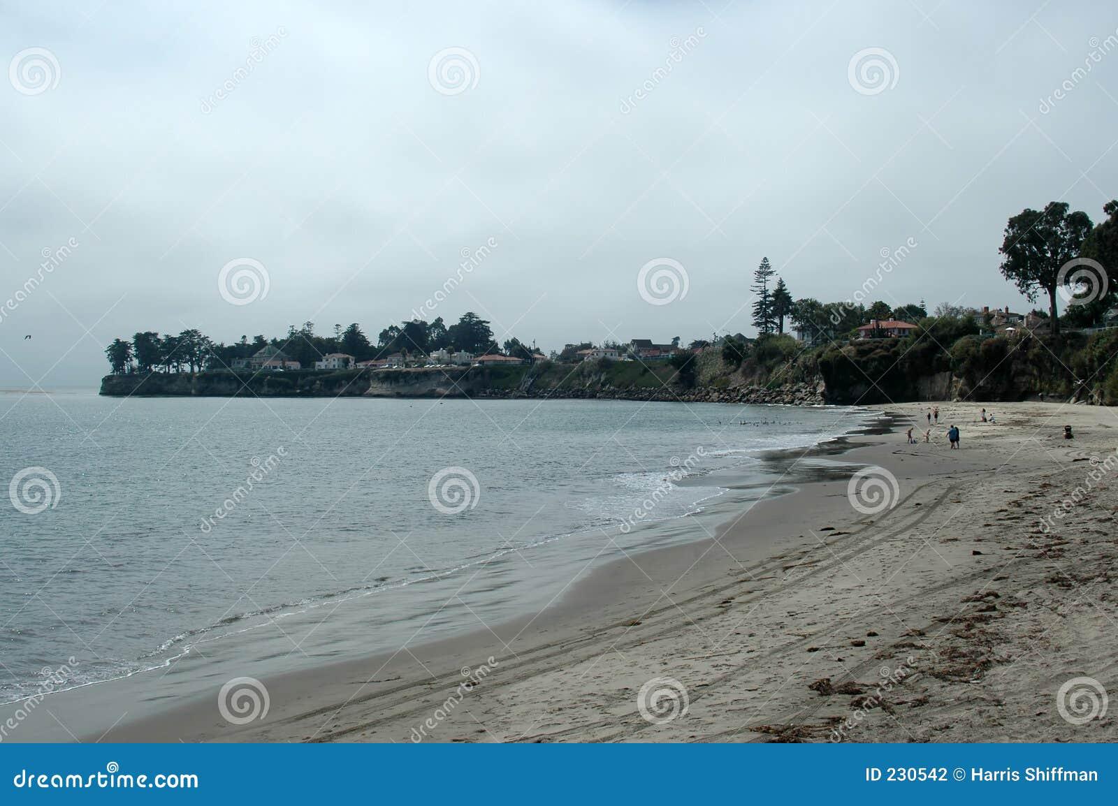 海滩cruz圣诞老人